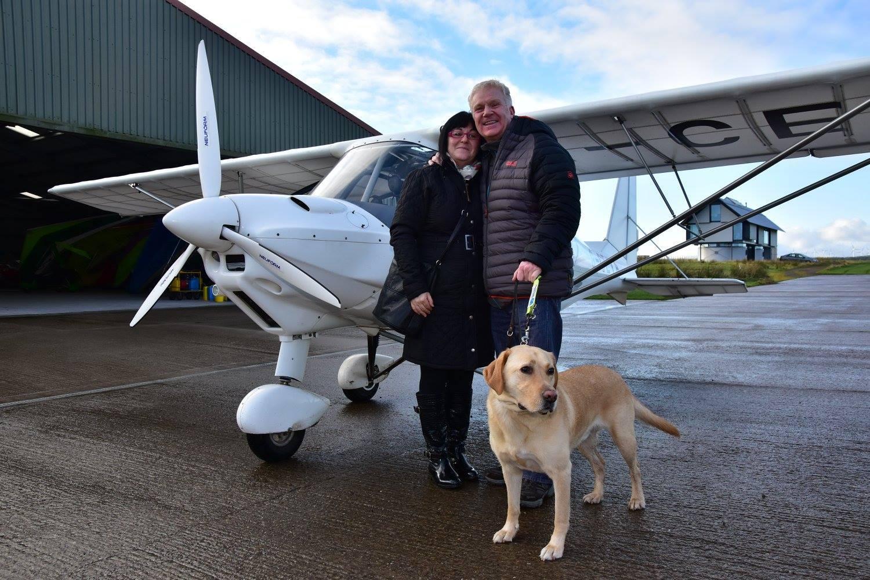 Blind daredevil Scott Cunningham learning to fly (Stewart Daniels)