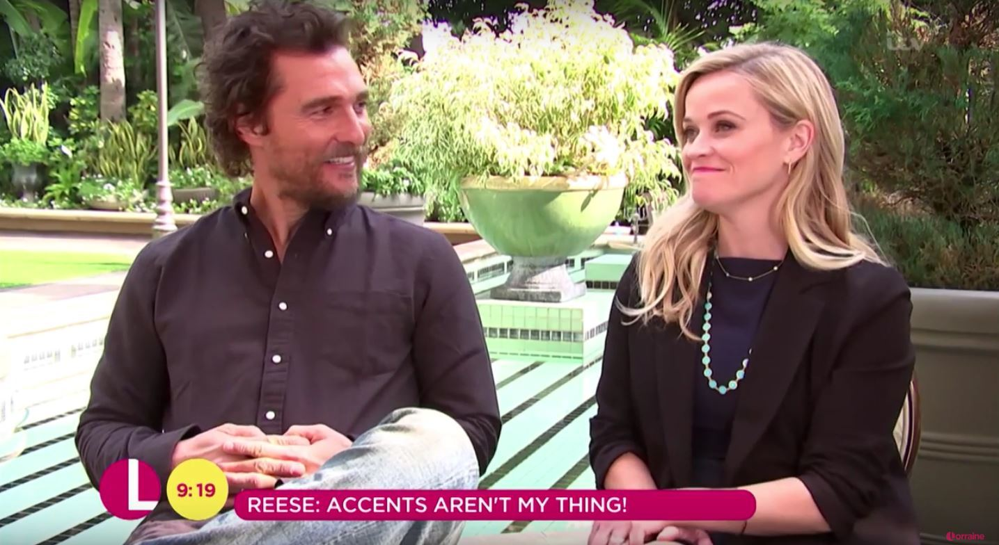 Matthew McConaughey and Reese Witherspoon on ITV's Lorraine (ITV)