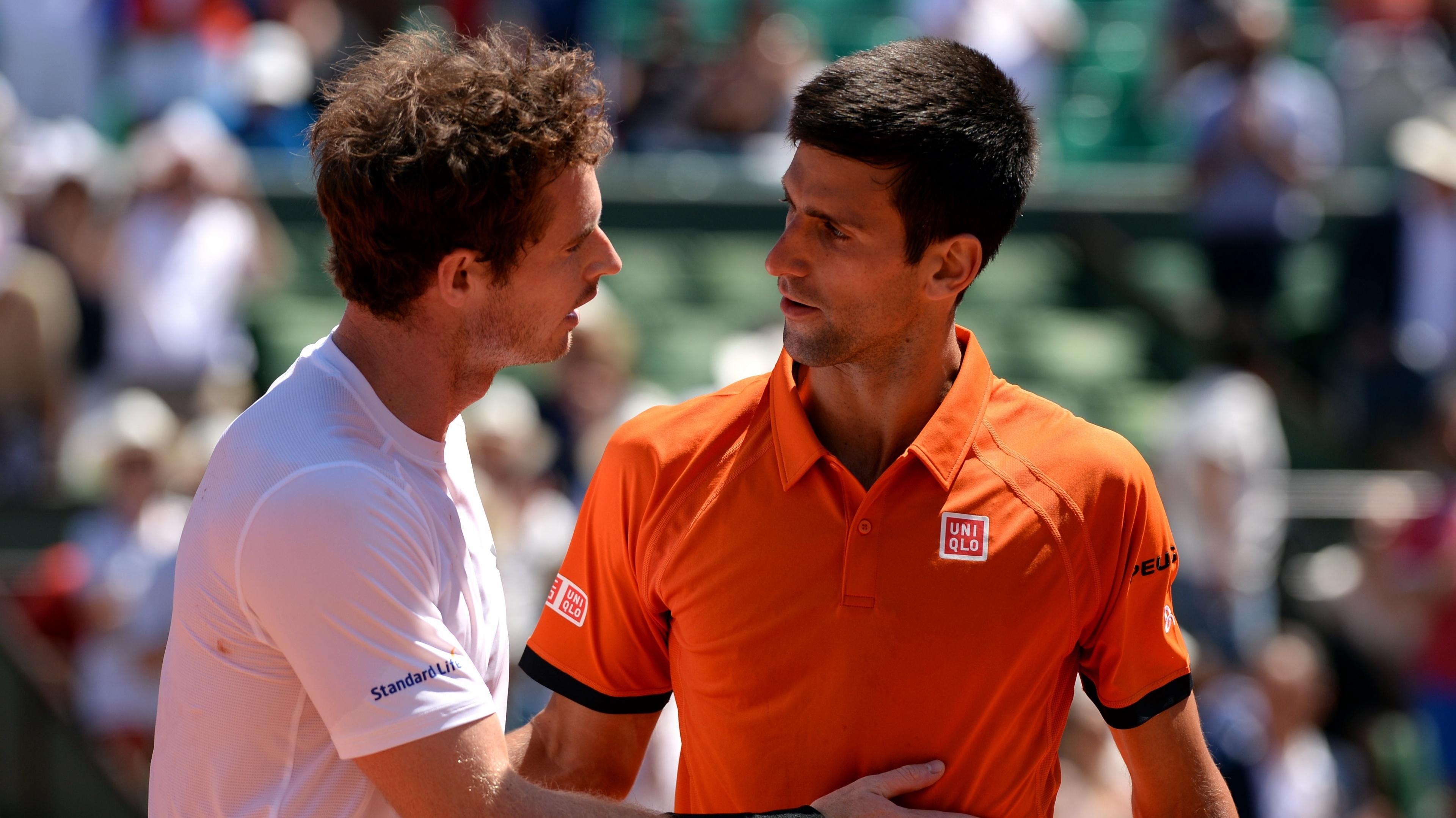 Andy Murray and Novak Djokovic (Jon Buckle/EMPICS Sport)