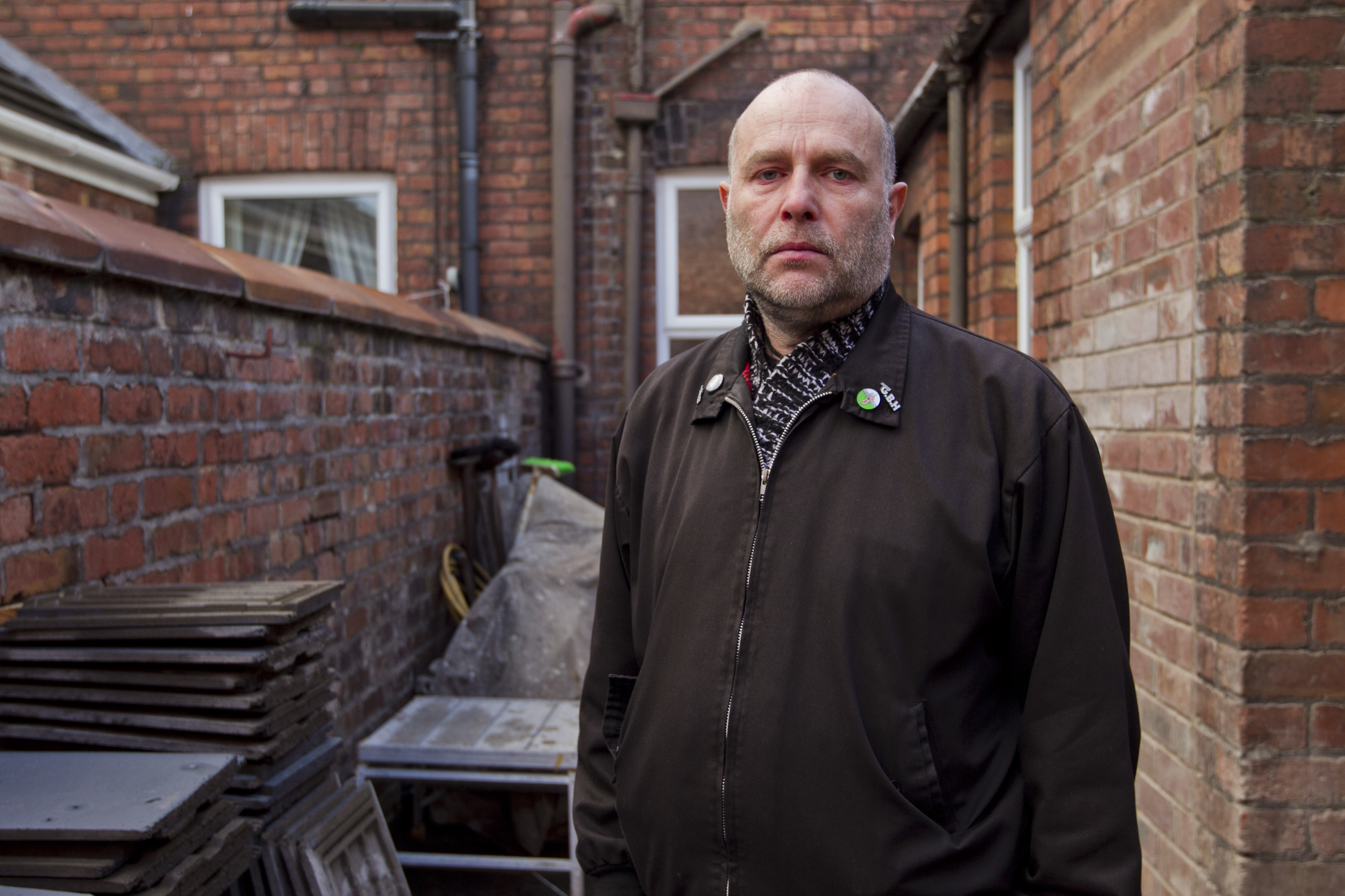 Paul Pearson, who's house was badly damaged in the flooding in Carlisle last year, with building work still on-going on, he cannot move back in yet. (Andrew Cawley)