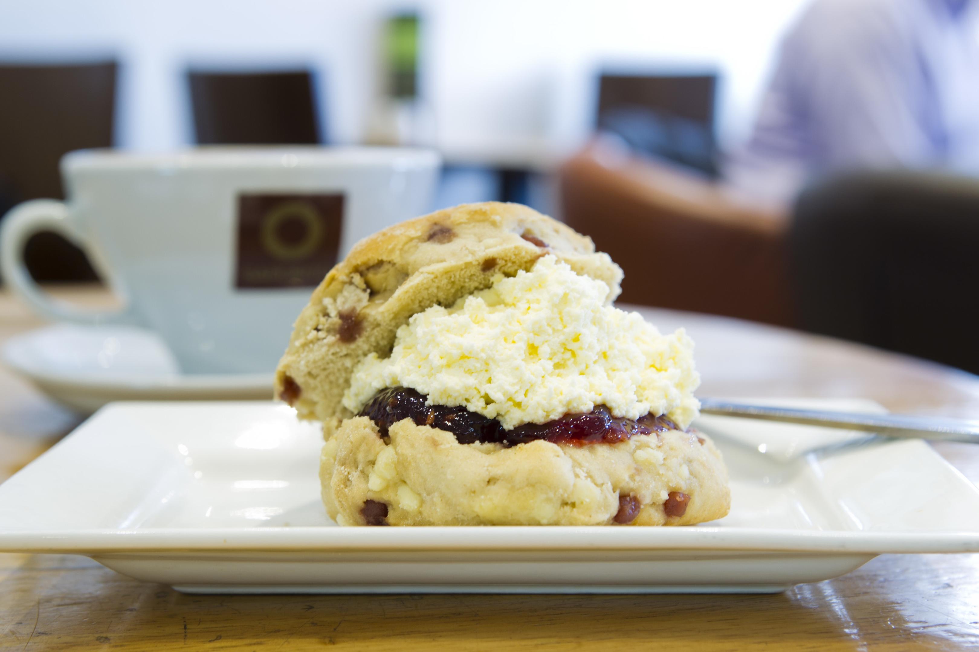 Saporito's delicious white chocolate and raspberry scone (Andrew Cawley / DC Thomson)