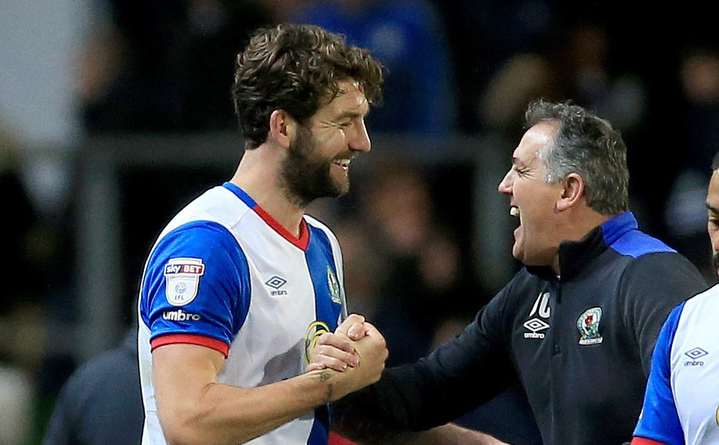 Charlie Mulgrew (left) and Blackburn manager Owen Coyle (Clint Hughes/PA Wire)