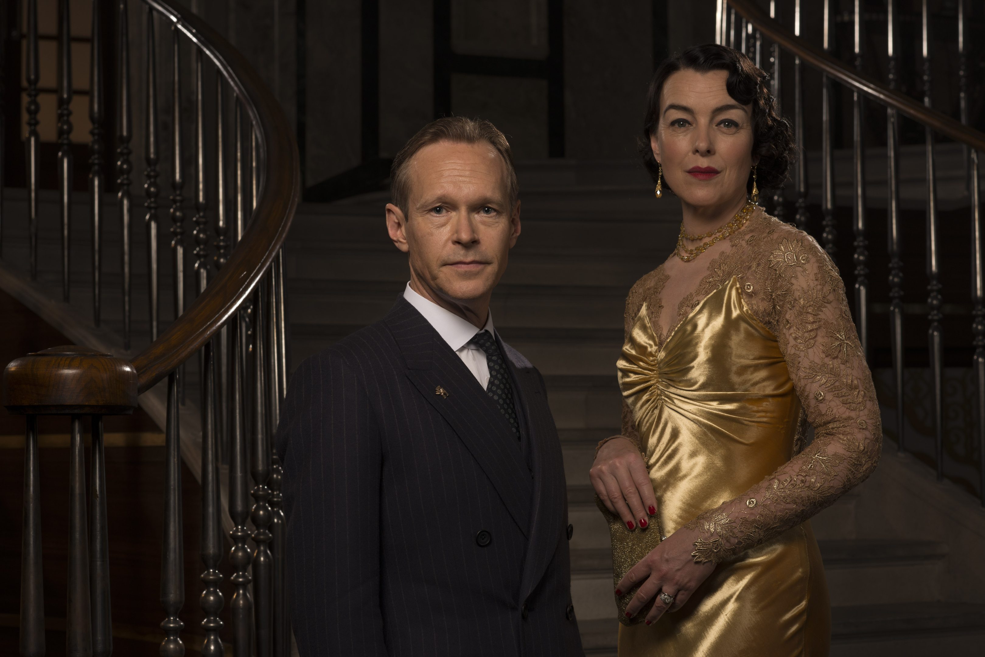 Steven Mackintosh and Olivia Williams in The Halcyon (ITV)