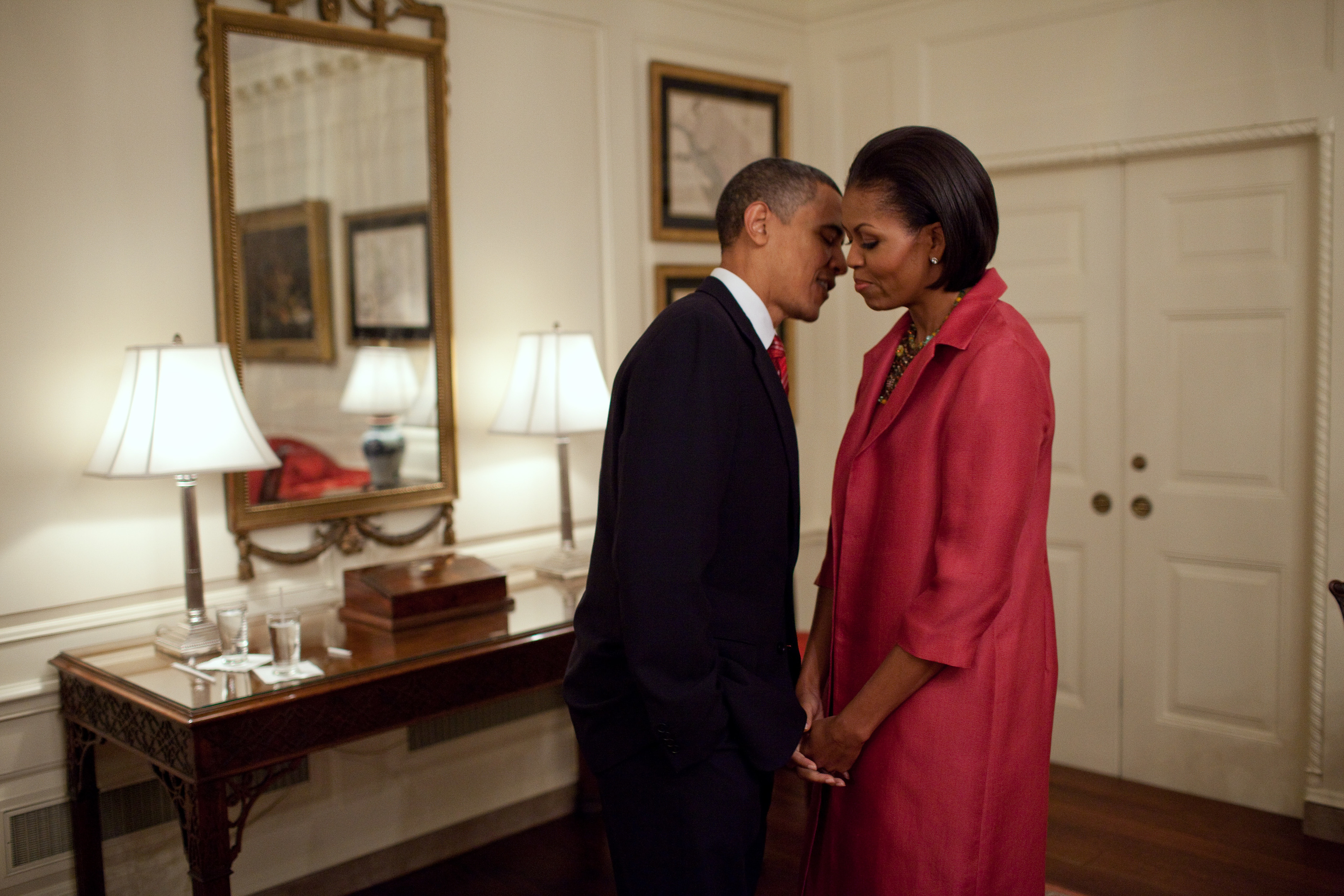 President Barack Obama and First Lady Michelle Obama, May 19, 2010. (Official White House Photo by Pete Souza)