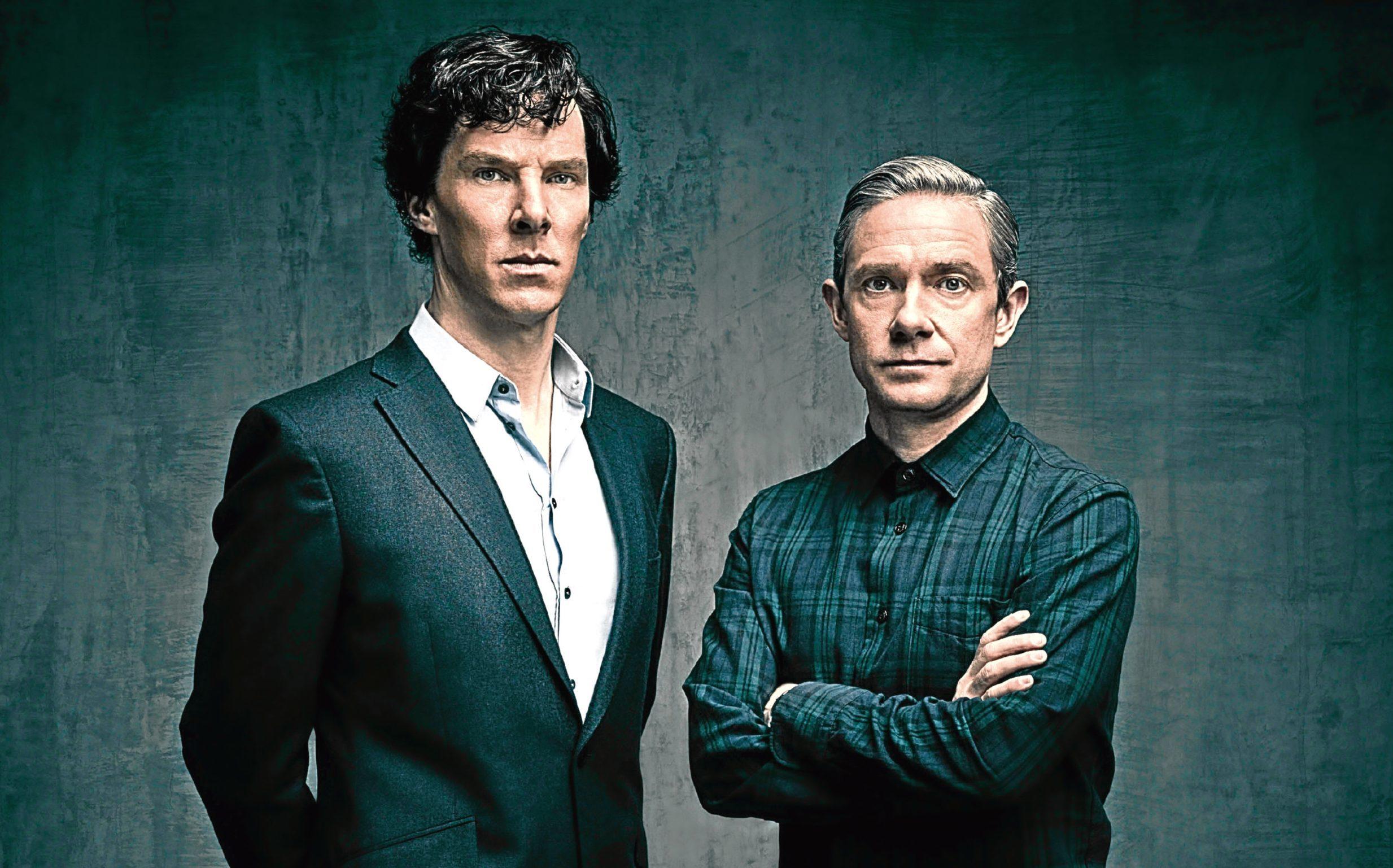 Benedict Cumberbatch and Martin Freeman in Sherlock (Hartswood Films / Todd Antony)