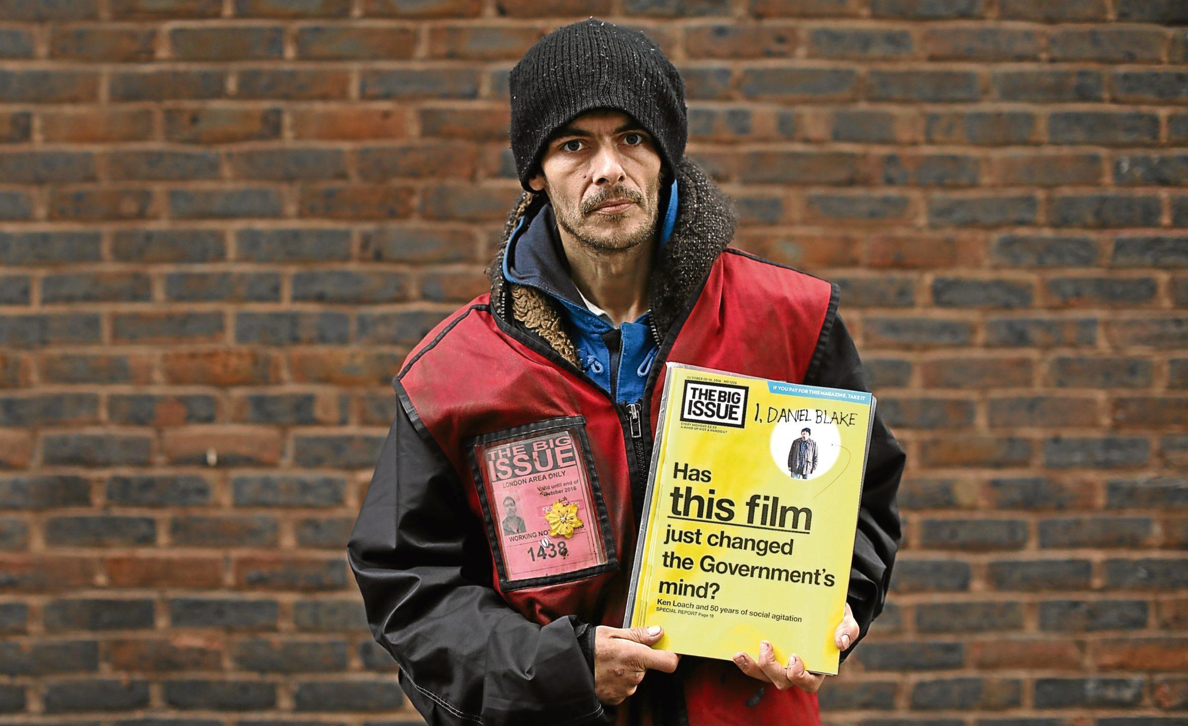 Big Issue seller Scott Hunter (Dan Kitwood/Getty Images)