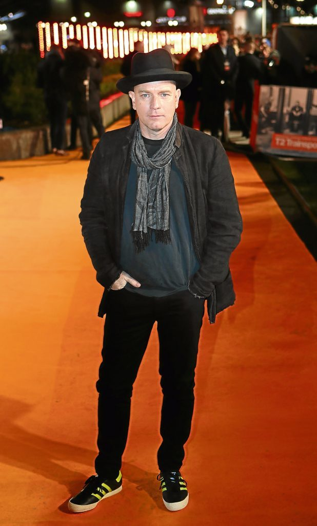 Ewan McGregor arriving at the world premiere of Trainspotting 2 (Jane Barlow/PA Wire)