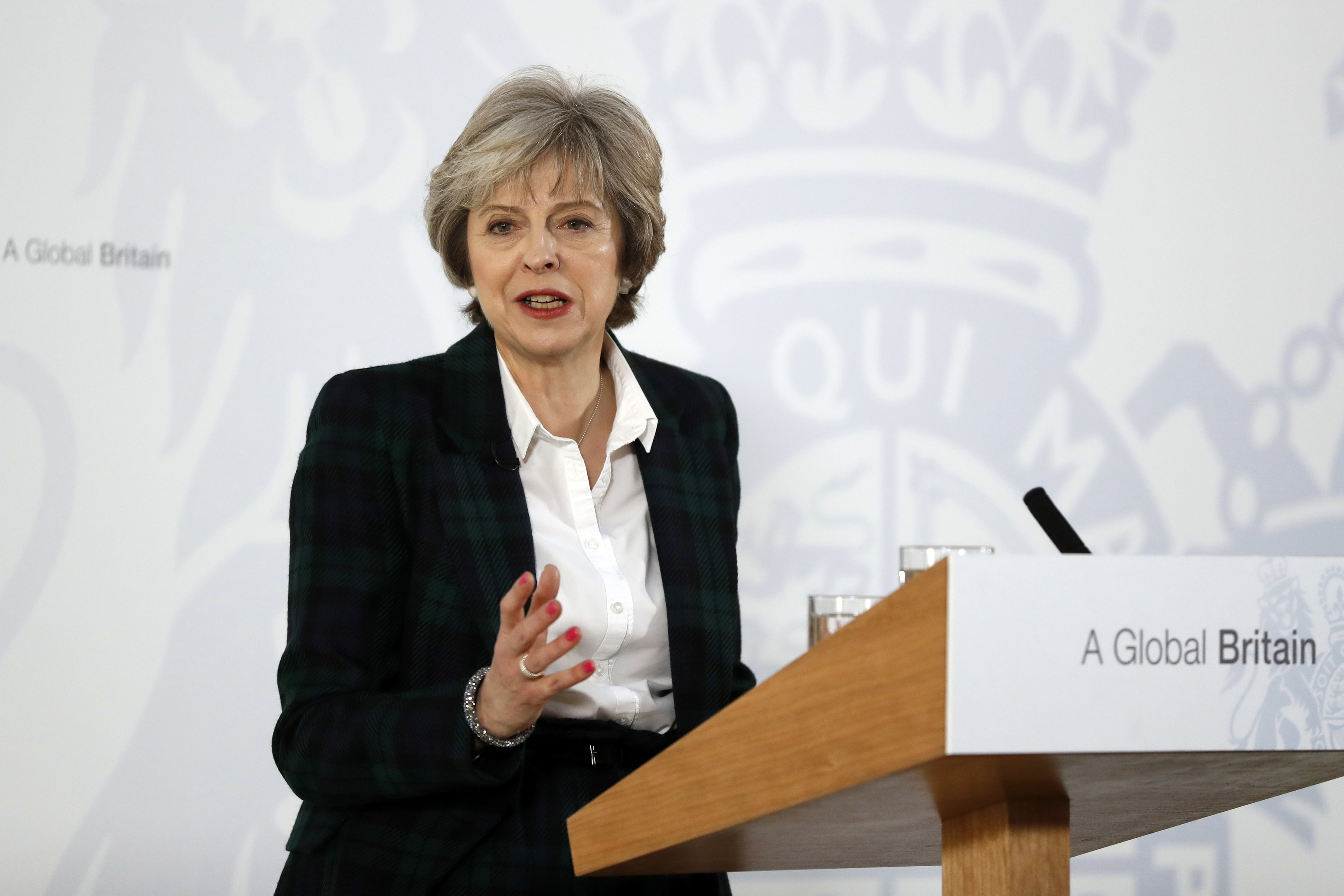 Theresa May delivers her keynote speech on Brexit (Kirsty Wigglesworth - WPA Pool /Getty Images)