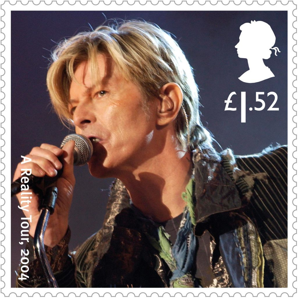 Royal Mail undated handout photo of one of the 10 special stamps they are issuing  as a tribute to David Bowie. PRESS ASSOCIATION Photo. Issue date: Wednesday January 25, 2017. Royal Mail said it will be the first time it has dedicated an entire issue to an individual music artist. The stamps, including images of famous album covers Hunky Dory and Aladdin Sane, will go on sale on March 14. See PA story CONSUMER Bowie. Photo credit should read: Royal Mail/PA Wire NOTE TO EDITORS: This handout photo may only be used in for editorial reporting purposes for the contemporaneous illustration of events, things or the people in the image or facts mentioned in the caption. Reuse of the picture may require further permission from the copyright holder.
