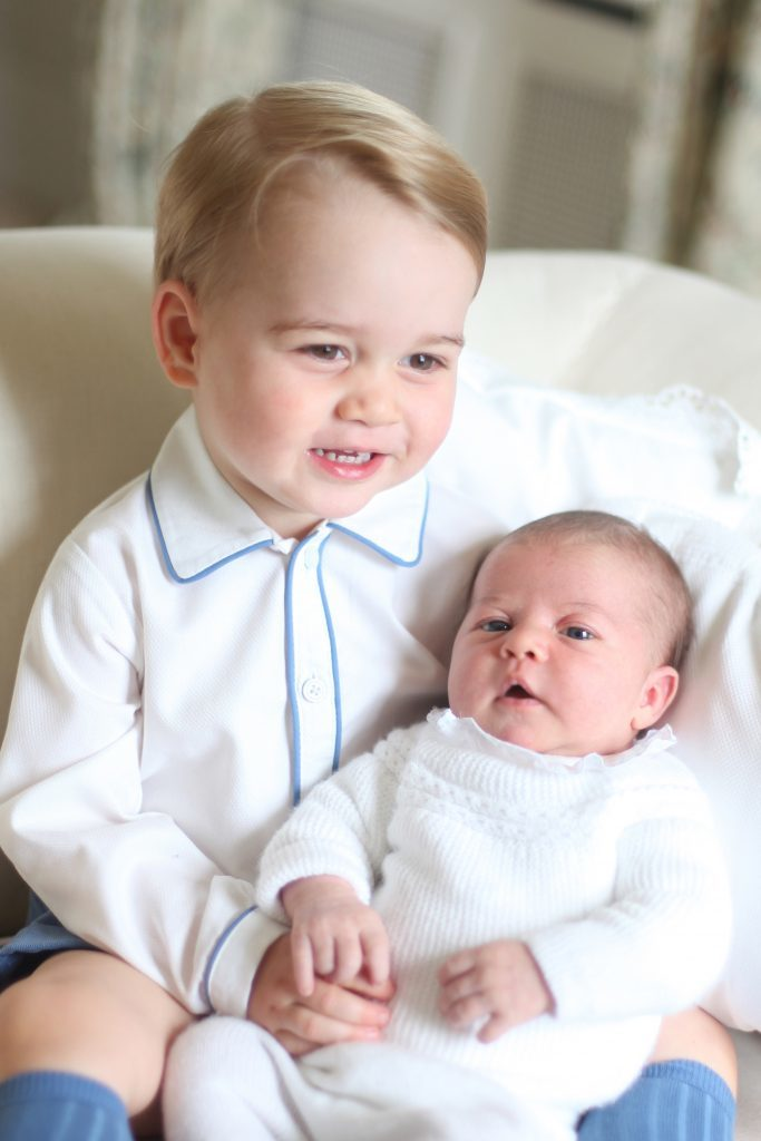 Photo released by the Duke and Duchess of Cambridge of Prince George and Princess Charlotte.