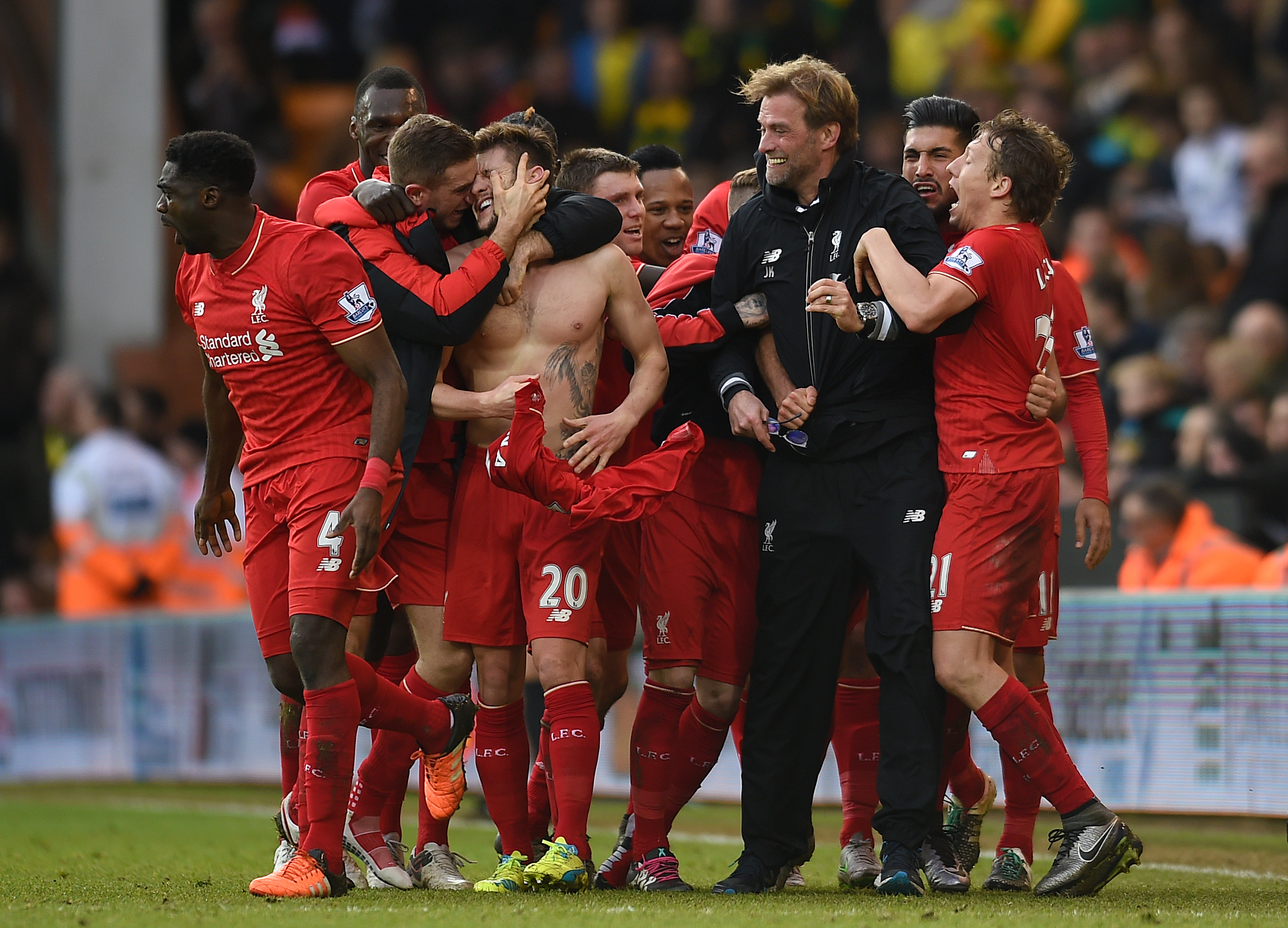 Jurgen Klopp's glasses were broken at Norwich a year ago after he joined in with his player's goal celebrations (PA Archive)