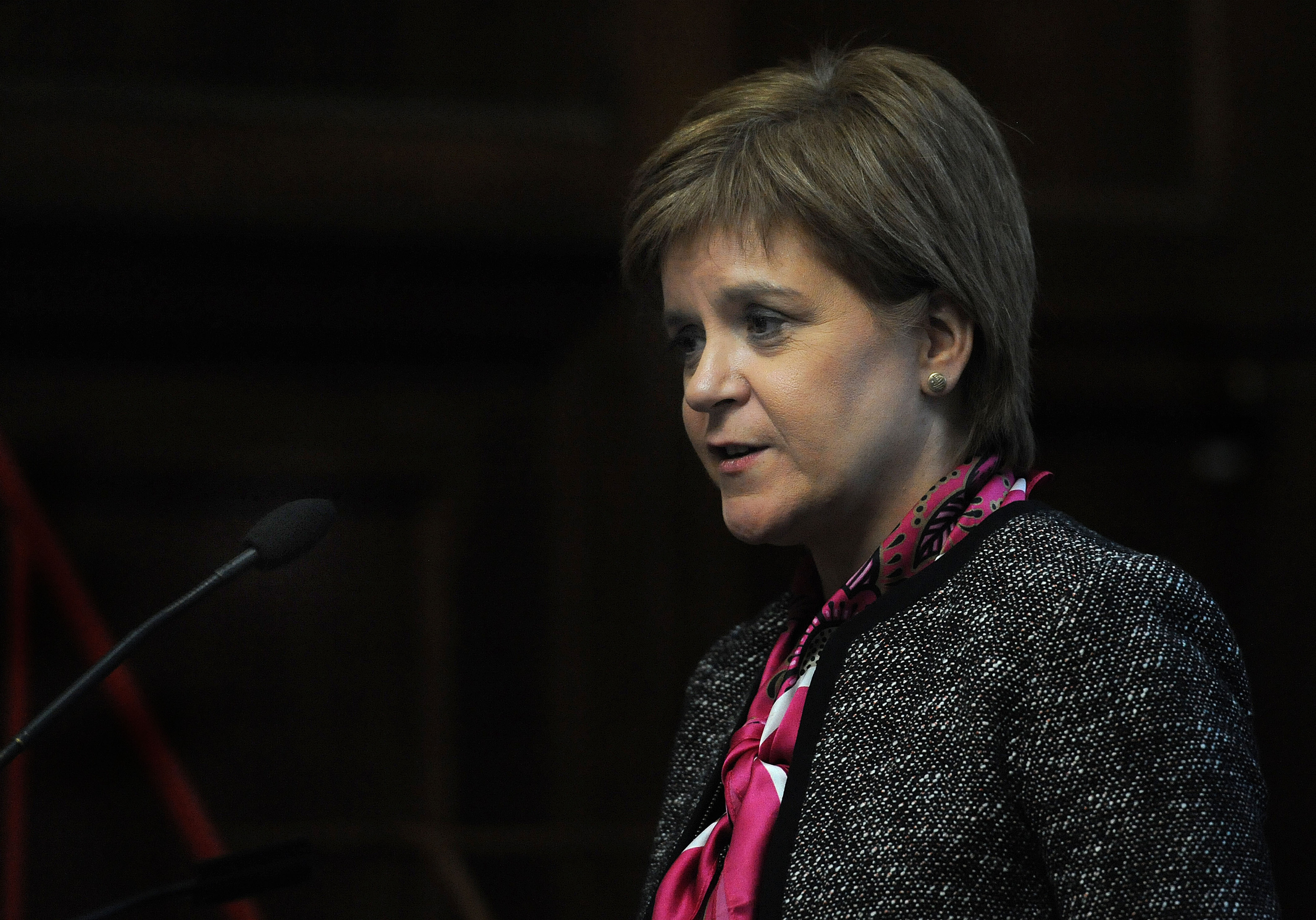 First Minister Nicola Sturgeon spoke at the Institution of Civil Engineers (ICE) , on Monday (Nick Ansell/PA Wire)