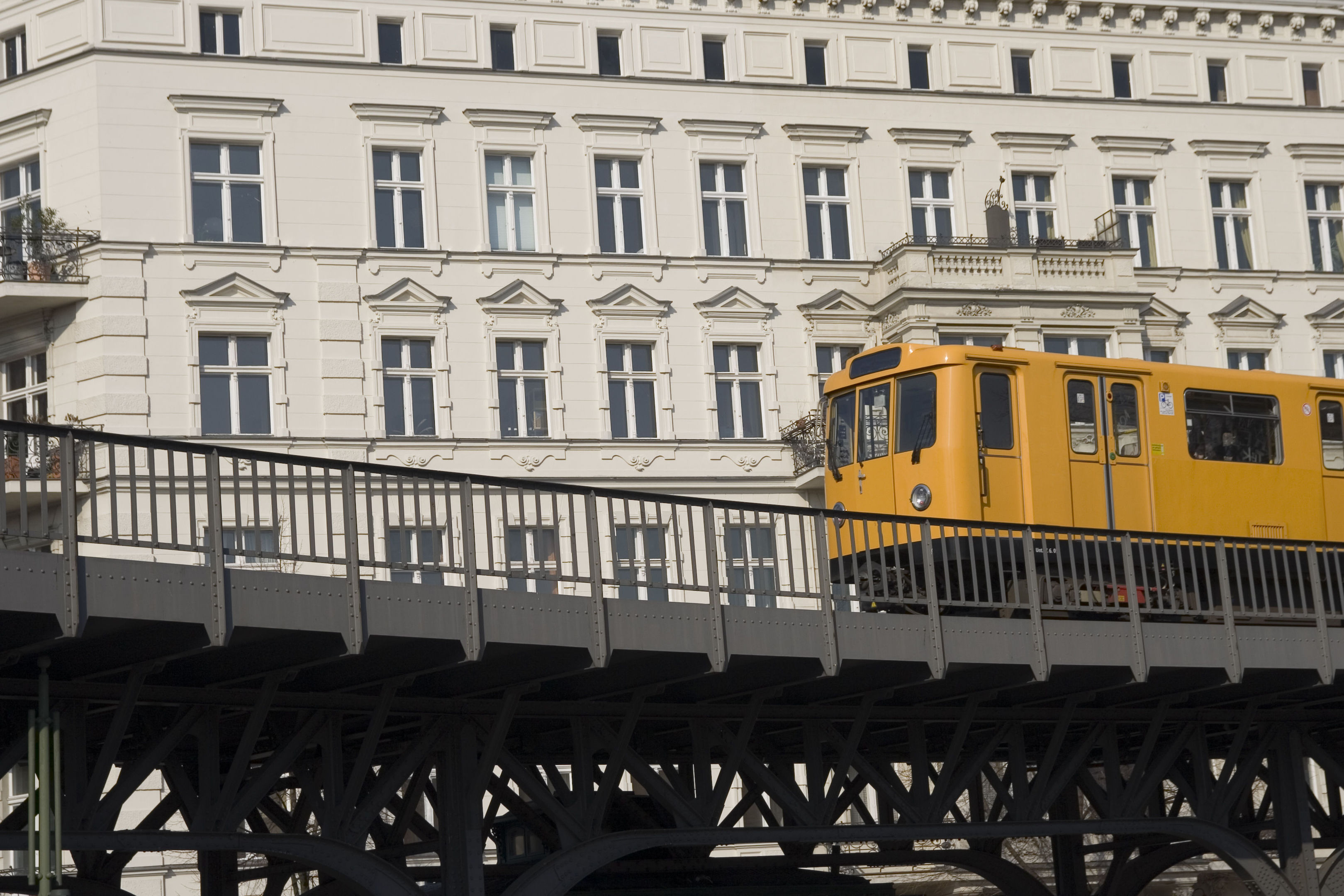 A train in Kreuzberg, Berlin, which nabbed the top spot for 'Hip Hangouts' in Europe (PA Photo/thinkstockphotos)