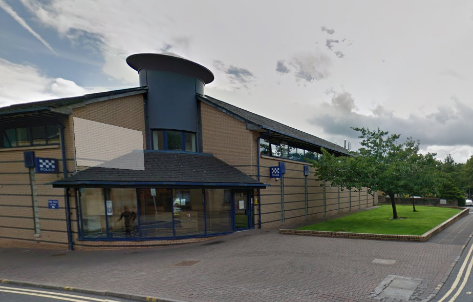 The body was found just 300 yards from Cambuslang police station (Google)