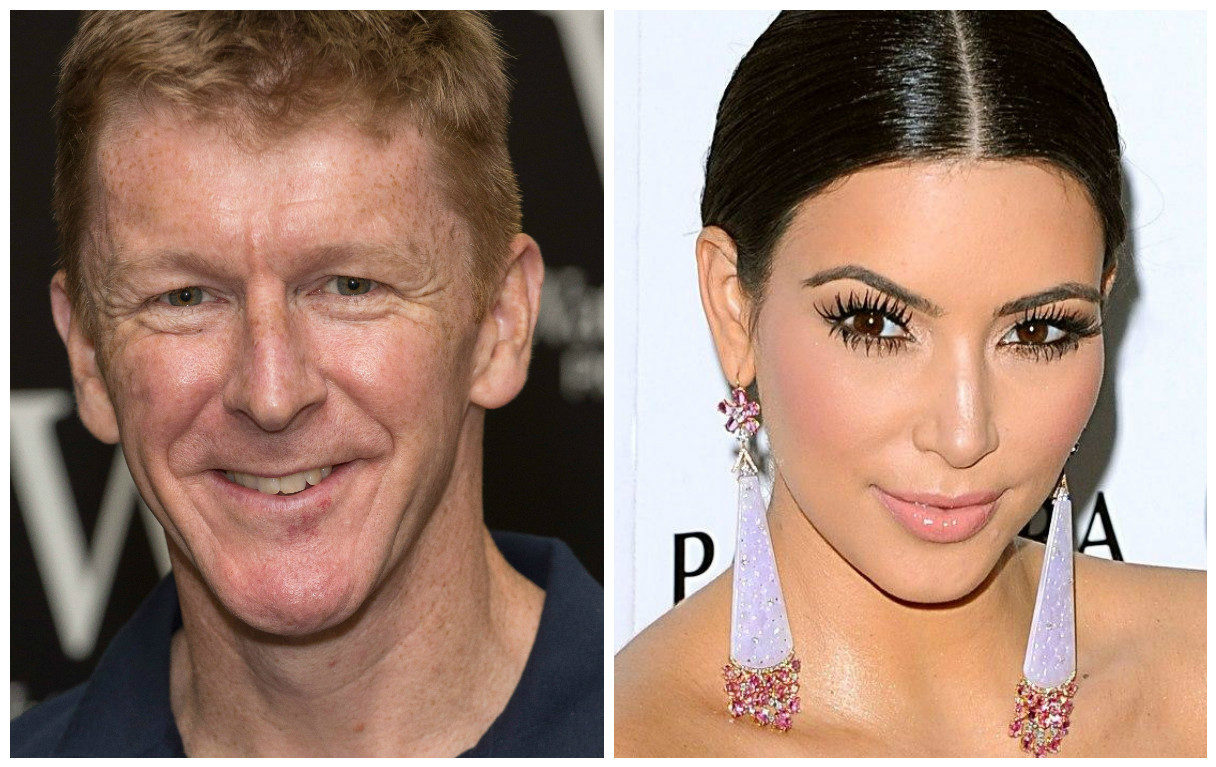 Lorraine reckons astronaut Tim Peake (left) is a better role model than Kim Kardashian (Getty Images & Ian West/PA Wire)