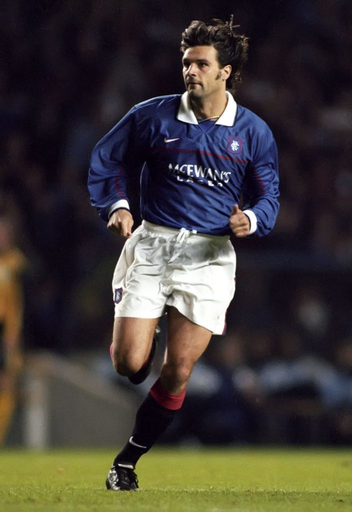 Marco Negri in action for Rangers, 1997 (SNS Group)
