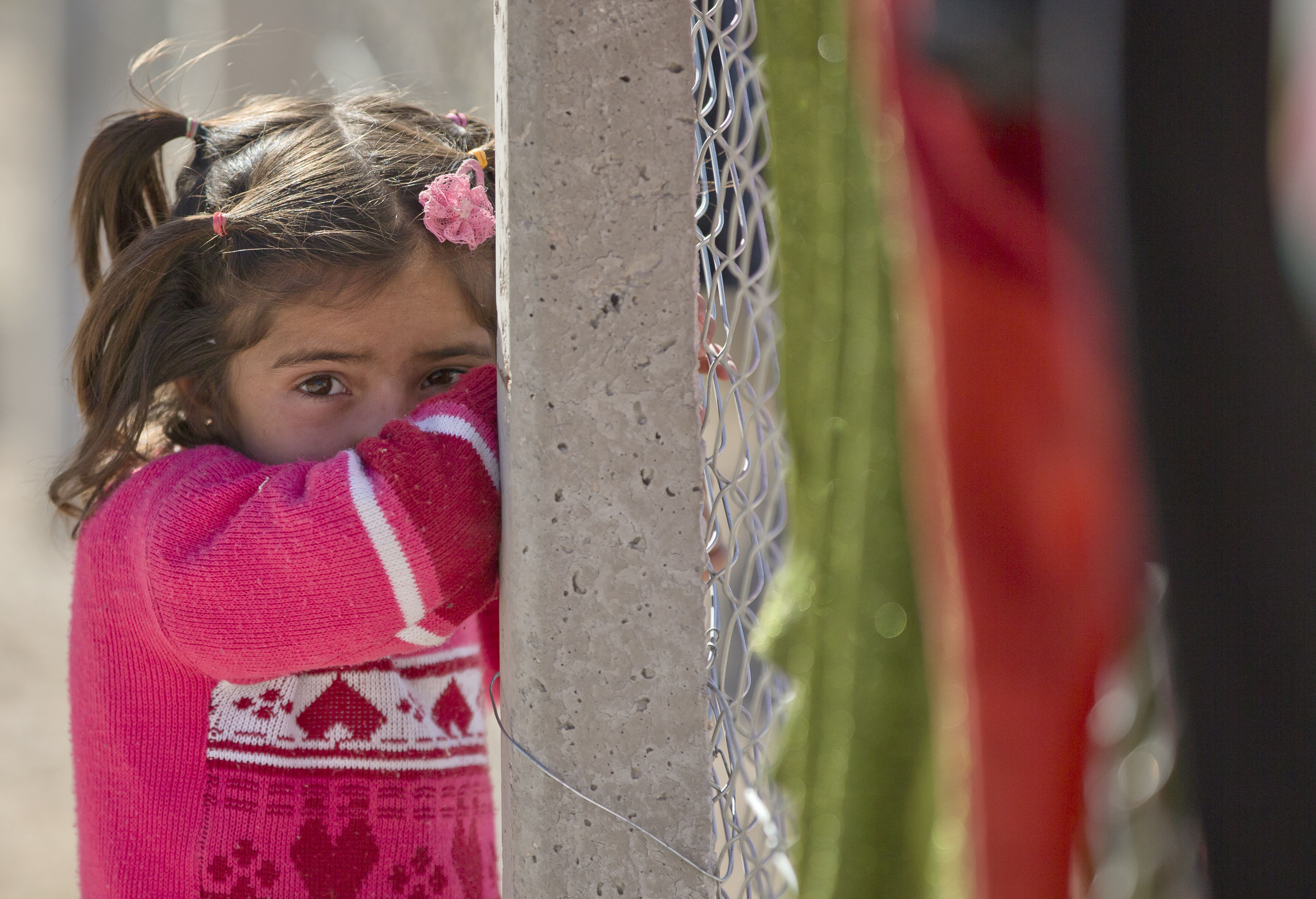 A Syrian Kurdish refugee (AP Photo/Vadim Ghirda)