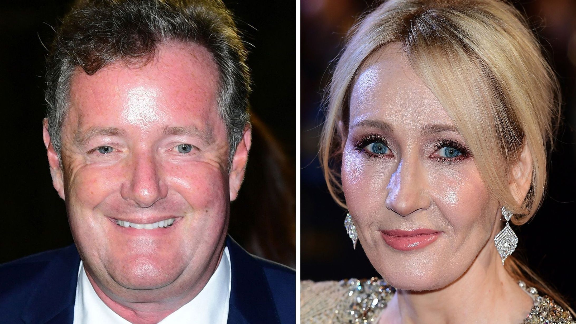 Piers Morgan and JK Rowling