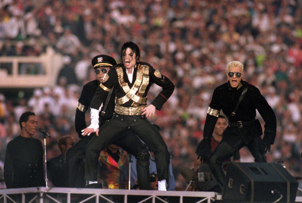 Michael Jackson pat Super Bowl XXVII (George Rose/Getty Images)
