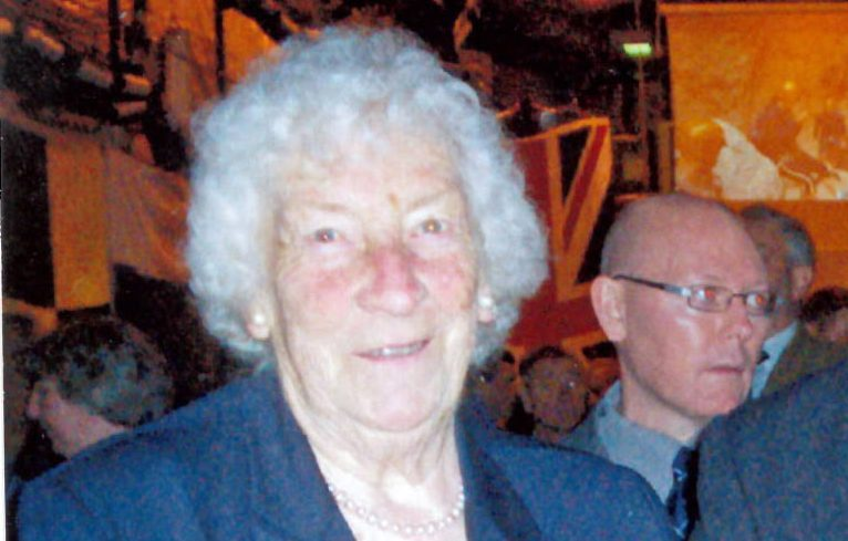 Joan Lowe MBE, who fell outside the Victoria Hospital in Glasgow