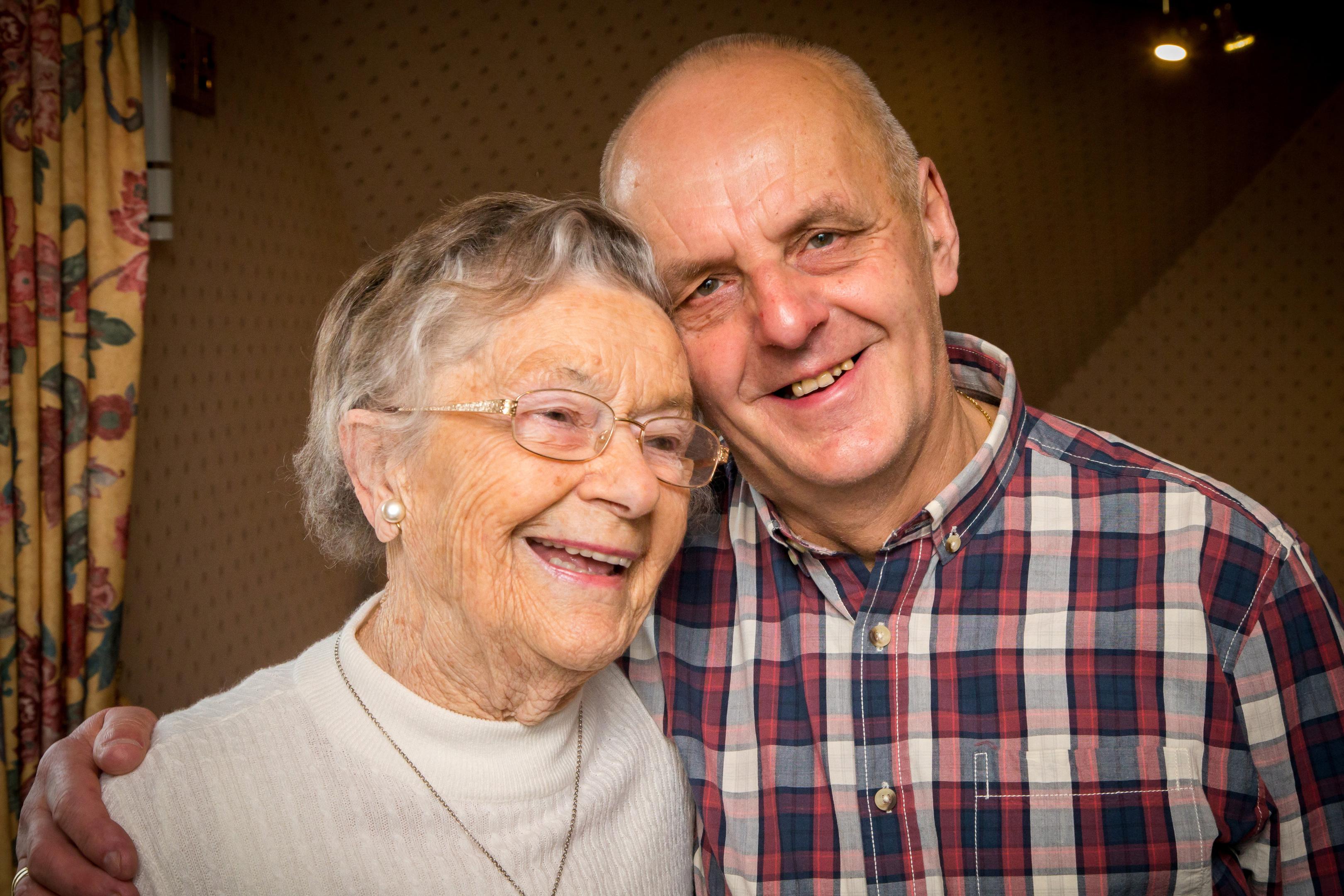 Retired nurse Margaret McInroy with Bill Douglas, who she nursed as a sick baby (Bob Collier Photos)