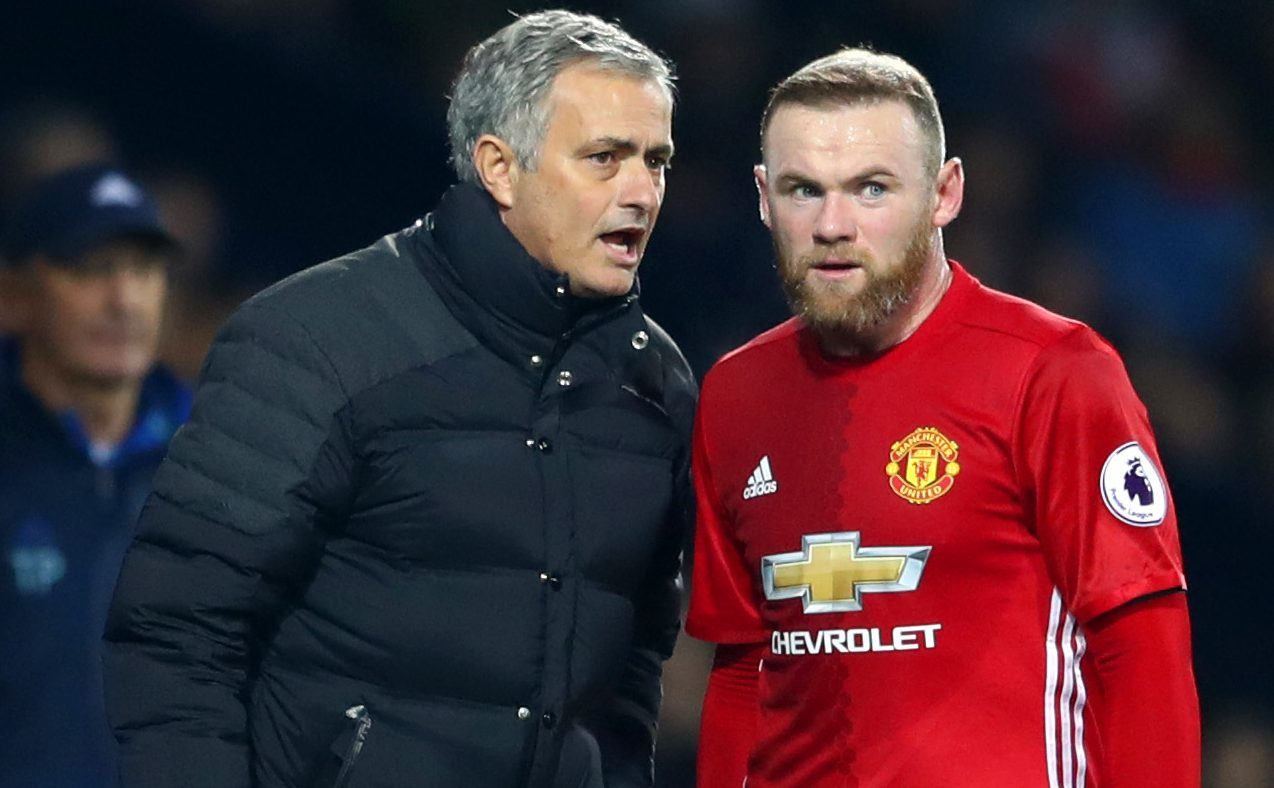 Jose Mourinho and Wayne Rooney (Michael Steele/Getty Images)
