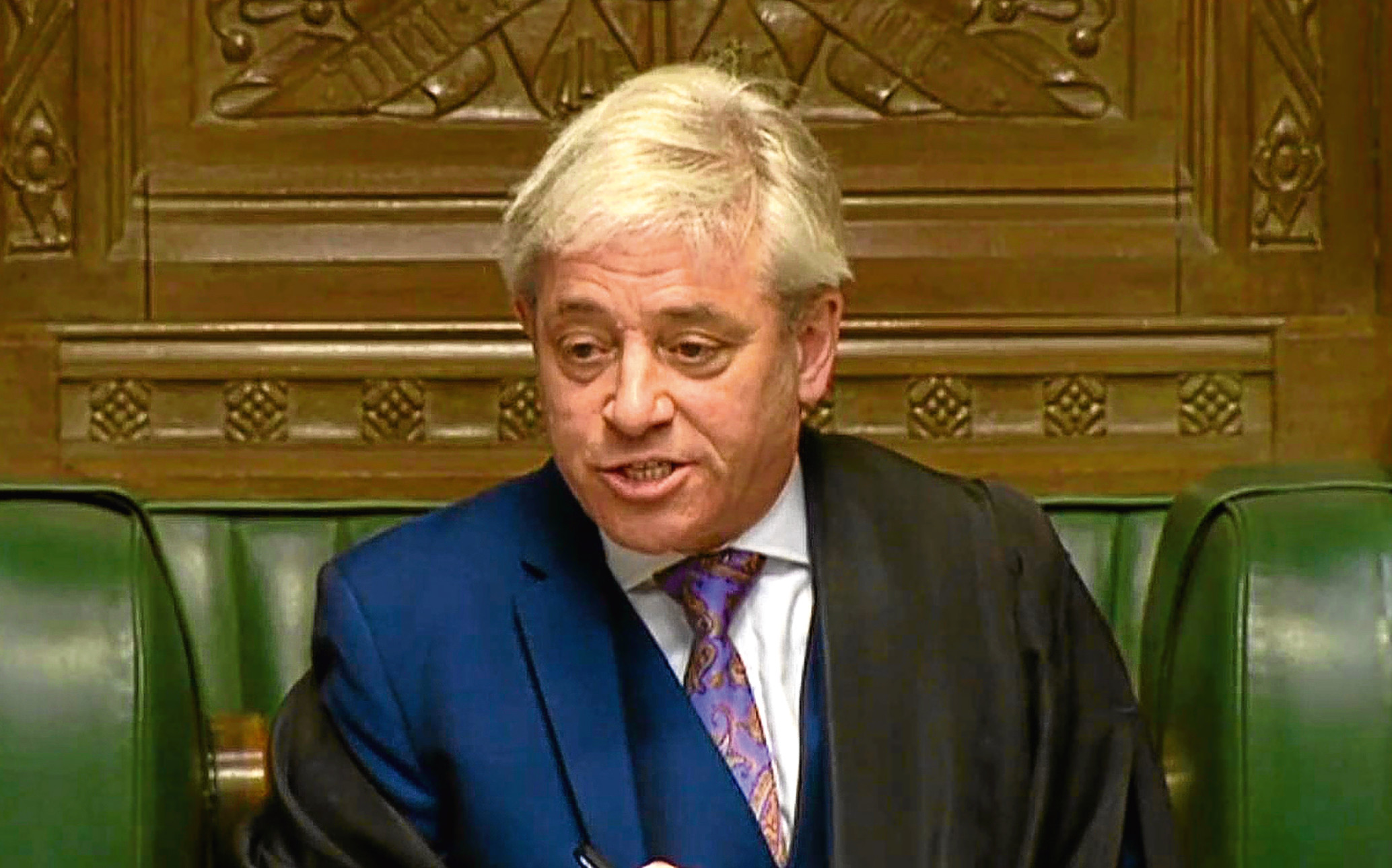 Commons Speaker John Bercow speaks during Prime Minister's Questions in the House of Commons (PA Wire)
