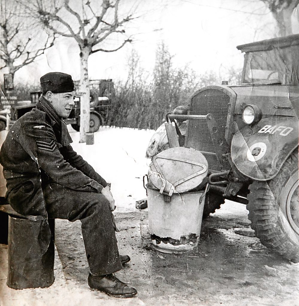 Geoffrey just after the War ended, in Frankfurt, Germany