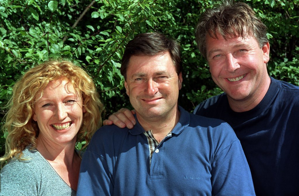 Alan with Ground Force Colleagues Charlie Dimmock (left) and Tommy Walsh (PA)