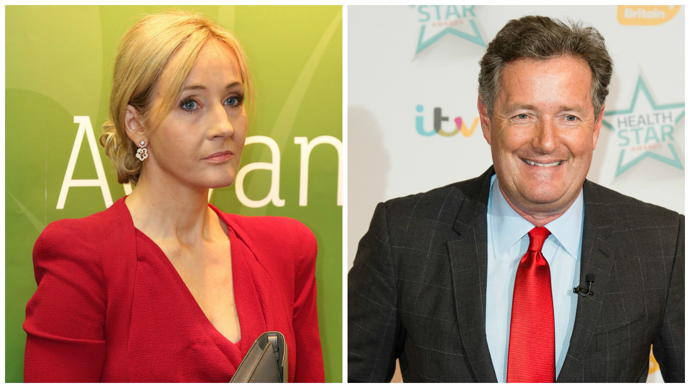 JK Rowling (left) and Piers Morgan (Getty Images)