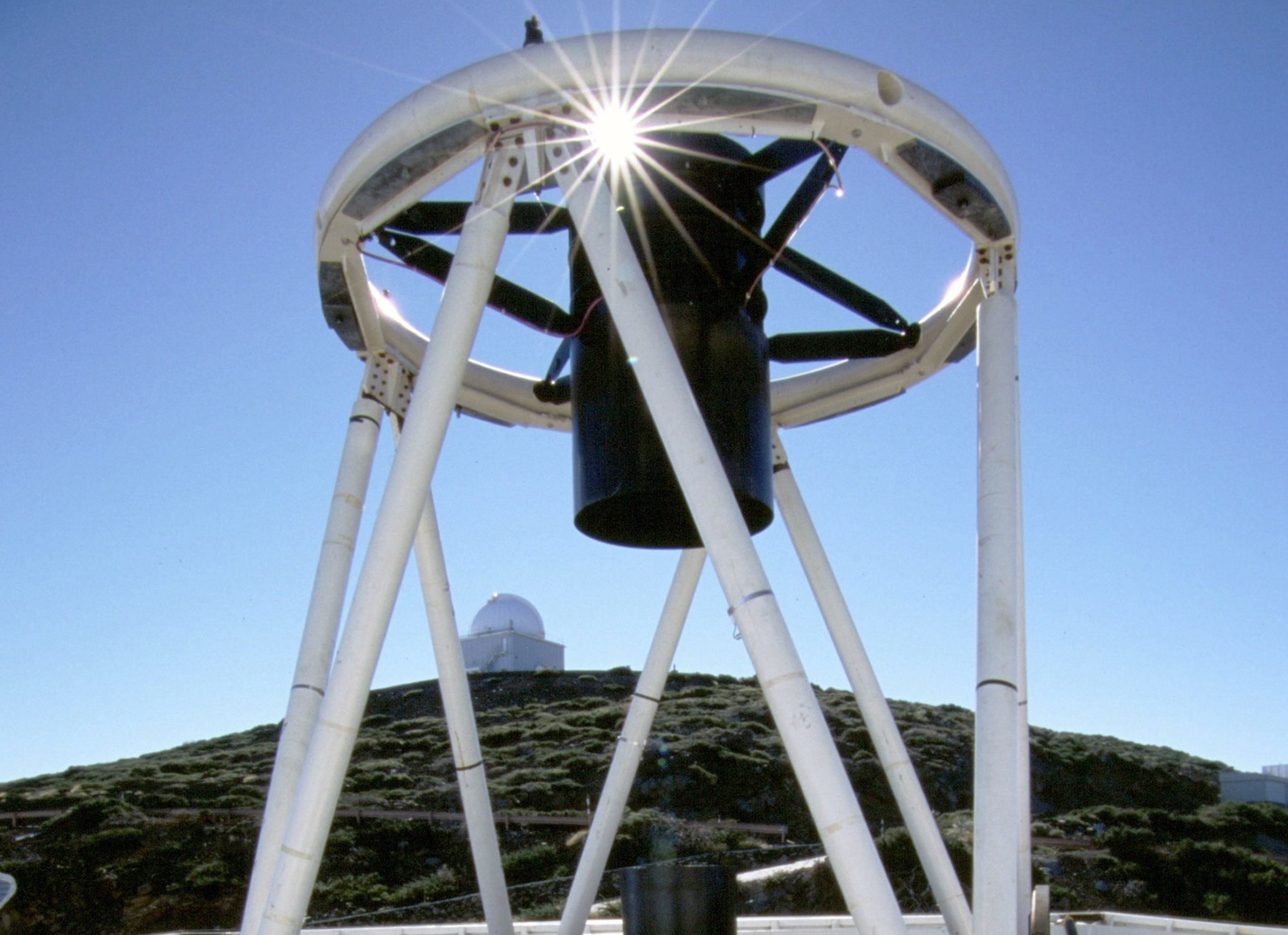 The Liverpool John Moores University (LJMU) robotic telescope which played a major role in the discovery of no less than seven Earth-sized worlds orbiting a cool dwarf star known as TRAPPIST-1. (LJMU/PA Wire)
