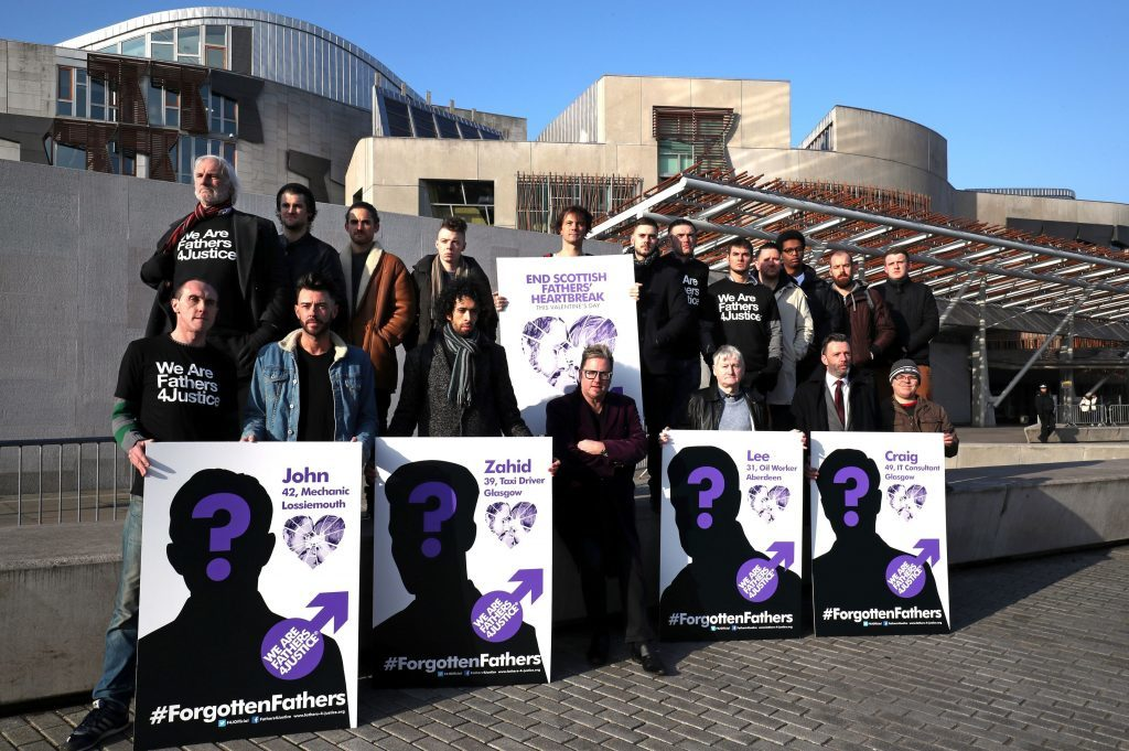 Fathers for Justice outside the Scottish Parliament in Edinburgh as they launch their campaign 'Forgotten Fathers' (Jane Barlow/PA Wire)