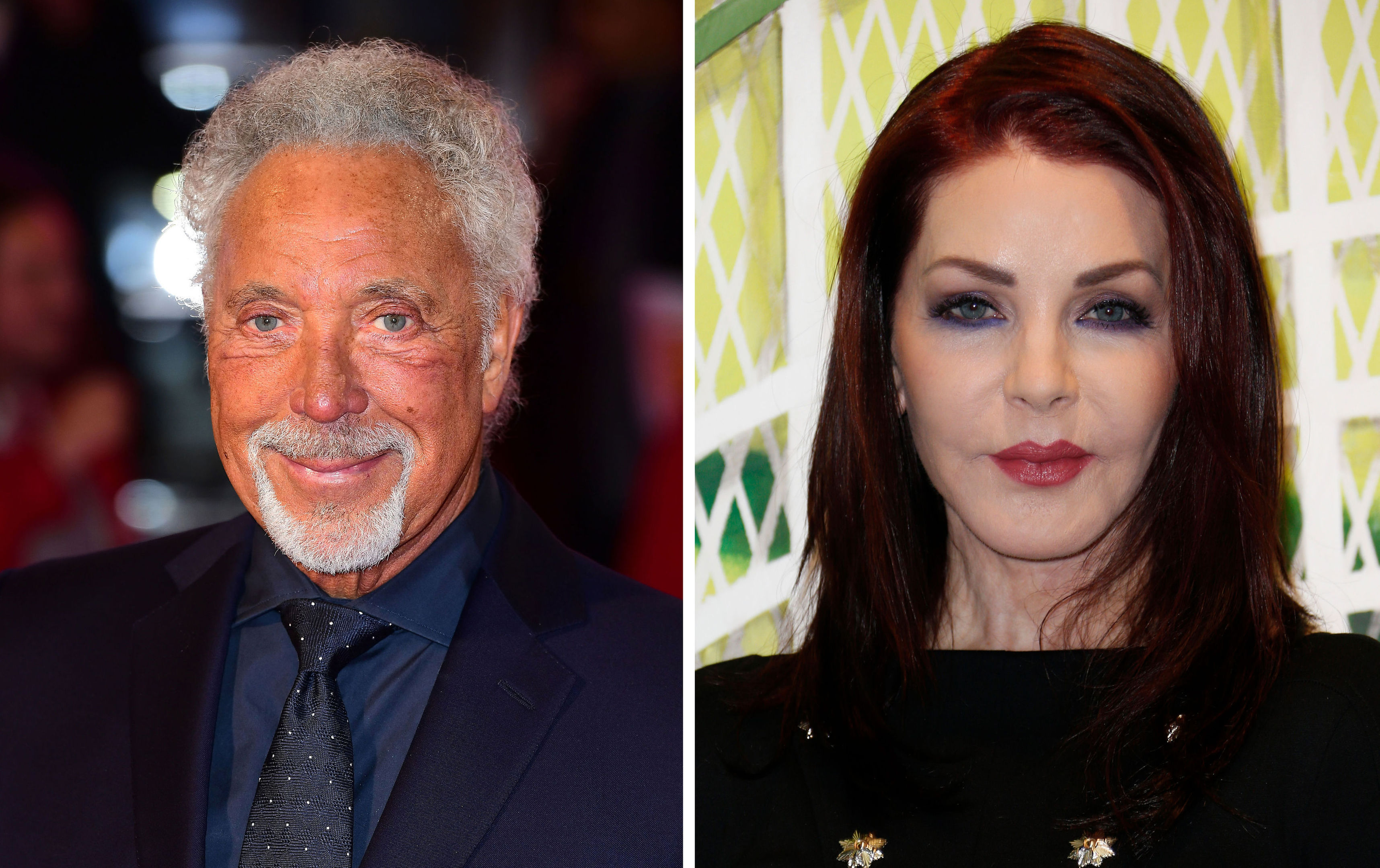 Sir Tom Jones and Elvis Presley's ex-wife Priscilla, who are dating according to reports (PA Wire)
