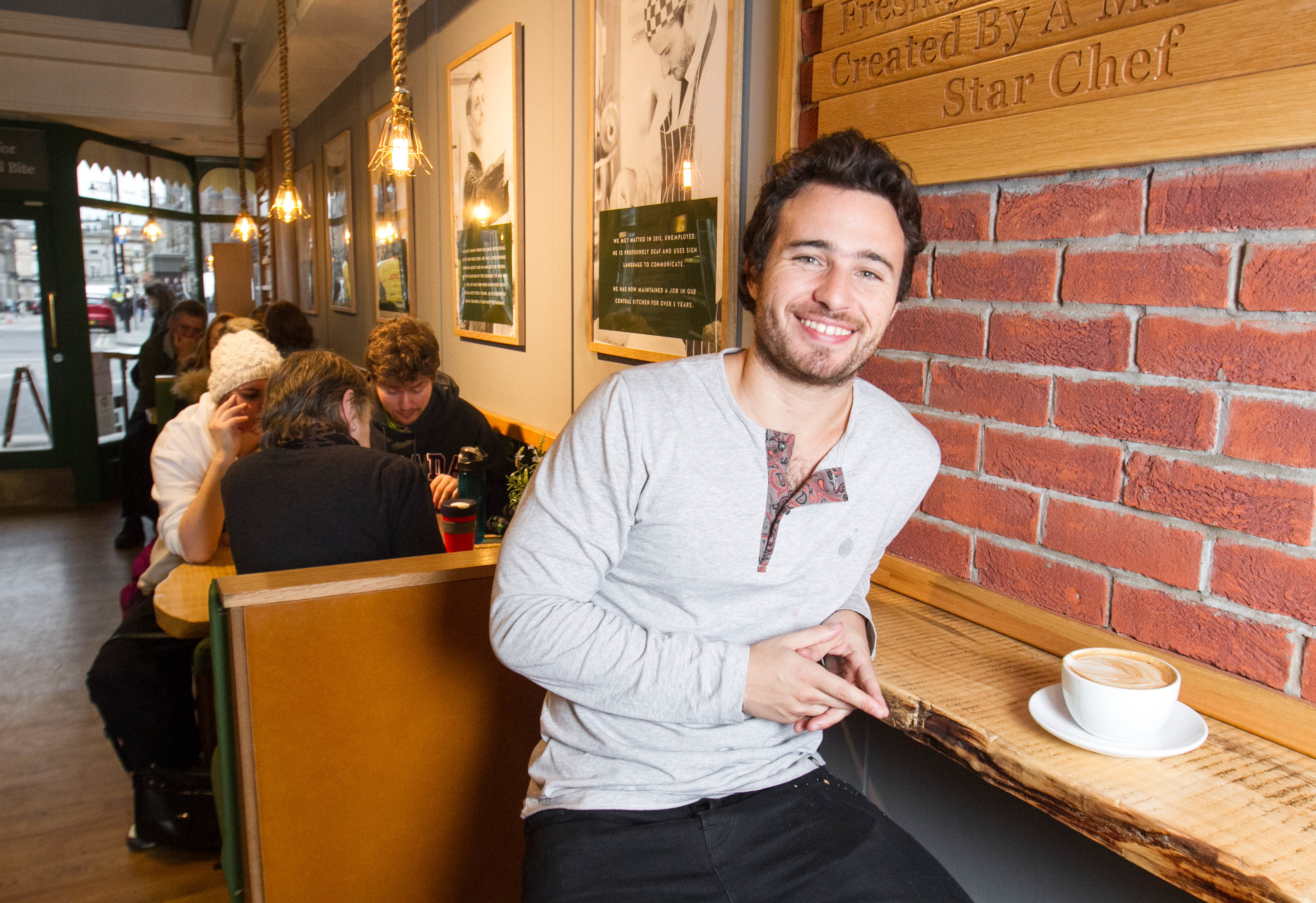 Josh Littlejohn will brief the royal couple on his campaign to end homelessness over a cuppa at his Edinburgh cafe (Chris Austin / DC Thomson)
