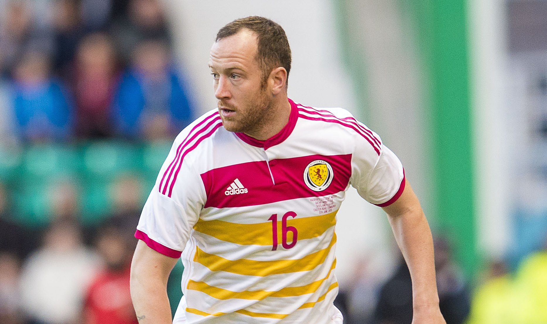 Charlie Adam in action for Scotland in 2015 (SNS Group)