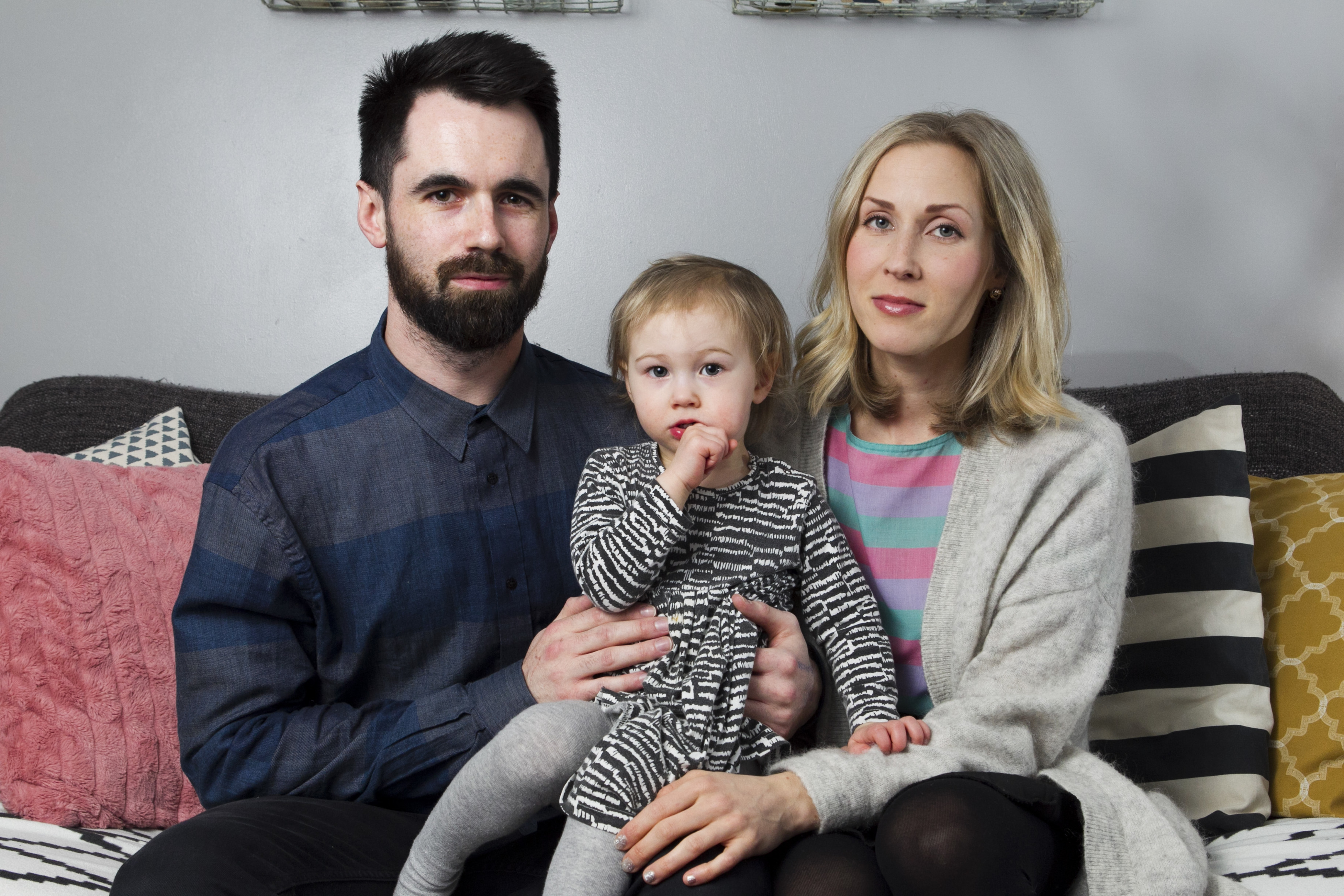 Matthew and Nina Aikas-Adam, and their daughter, Lana (Andrew Cawley / DC Thomson)