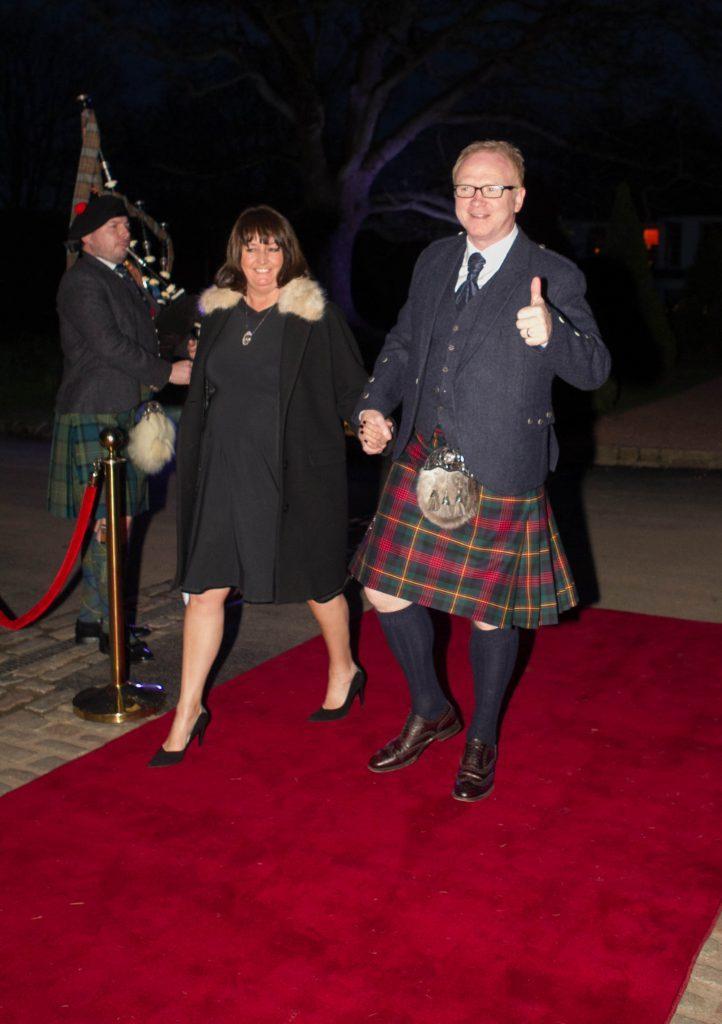 Former Rangers, Hibs, Motherwell and Scotland manager Alex McLeish arrives, resplendent in his kilt! (Chris Austin / DC Thomson)
