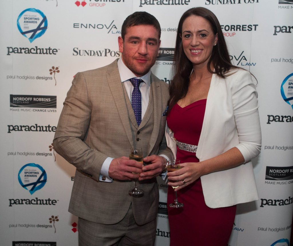 Boxer Alex Arthur and wife Debbie (Chris Austin / DC Thomson)