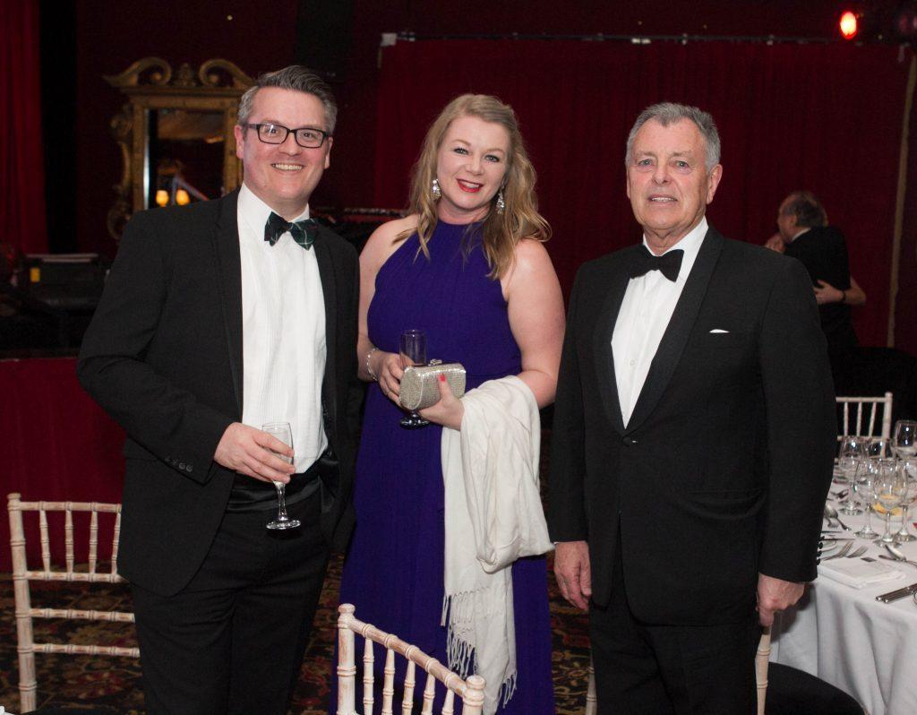 Bernard Gallagher with Sunday Post Editor Richard Prest and wife Carol (Chris Austin / DC Thomson)