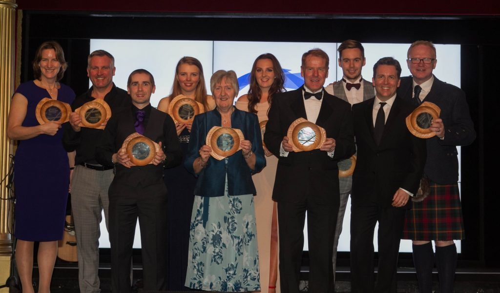 All of the night's winners (Chris Austin / DC Thomson)