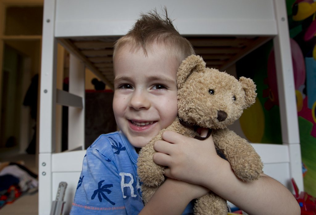 Niko has been reunited with his teddy (Andrew Cawley / DC Thomson)