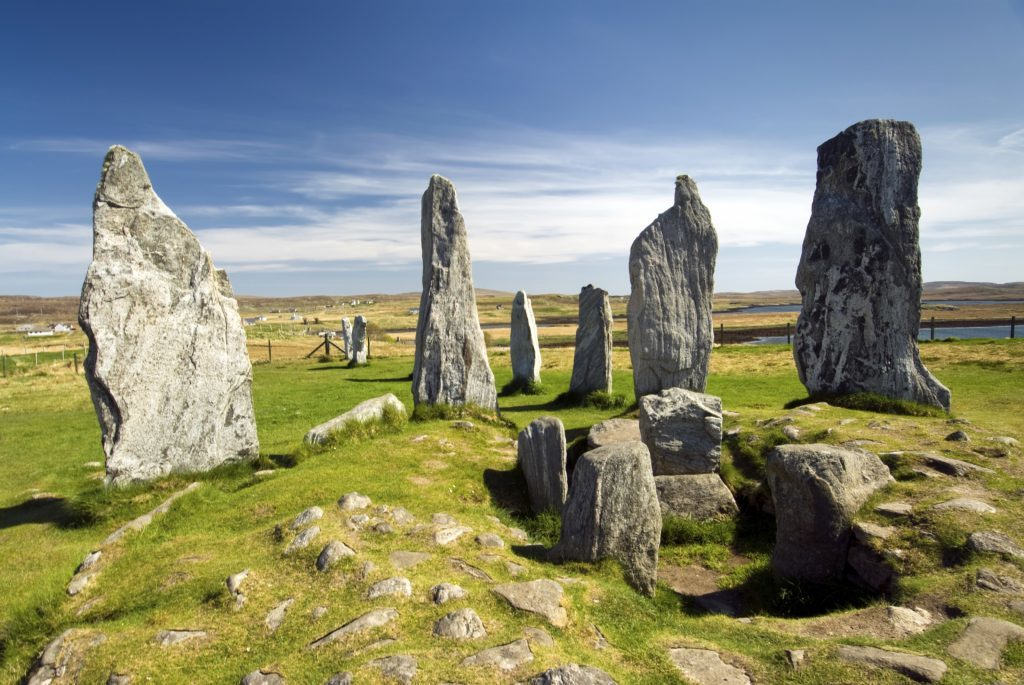 Callanish standing stone circle, Isle of Lewis, Scotland, UK.