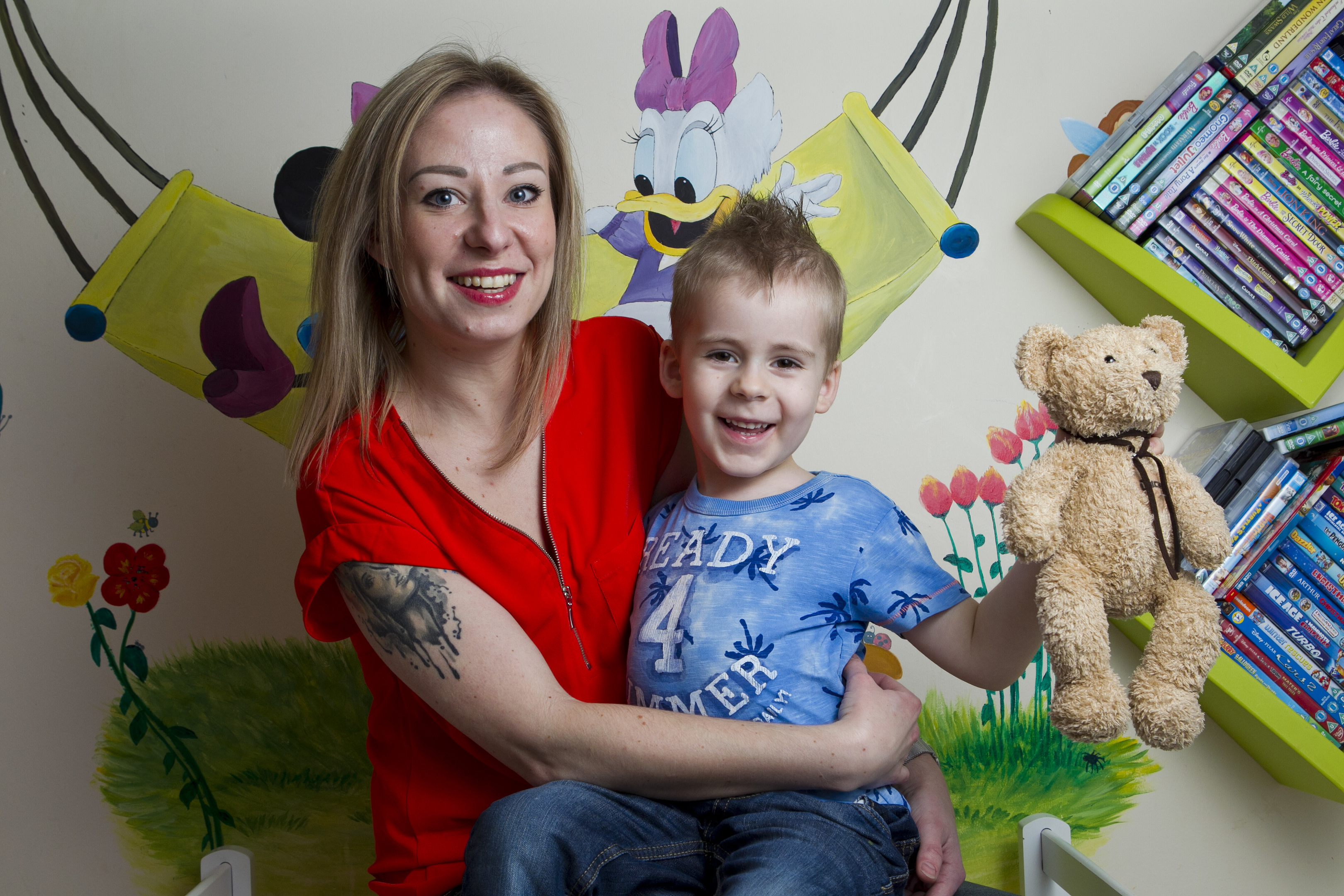 Four year old Niko with his mother Magda (Andrew Cawley / DC Thomson)