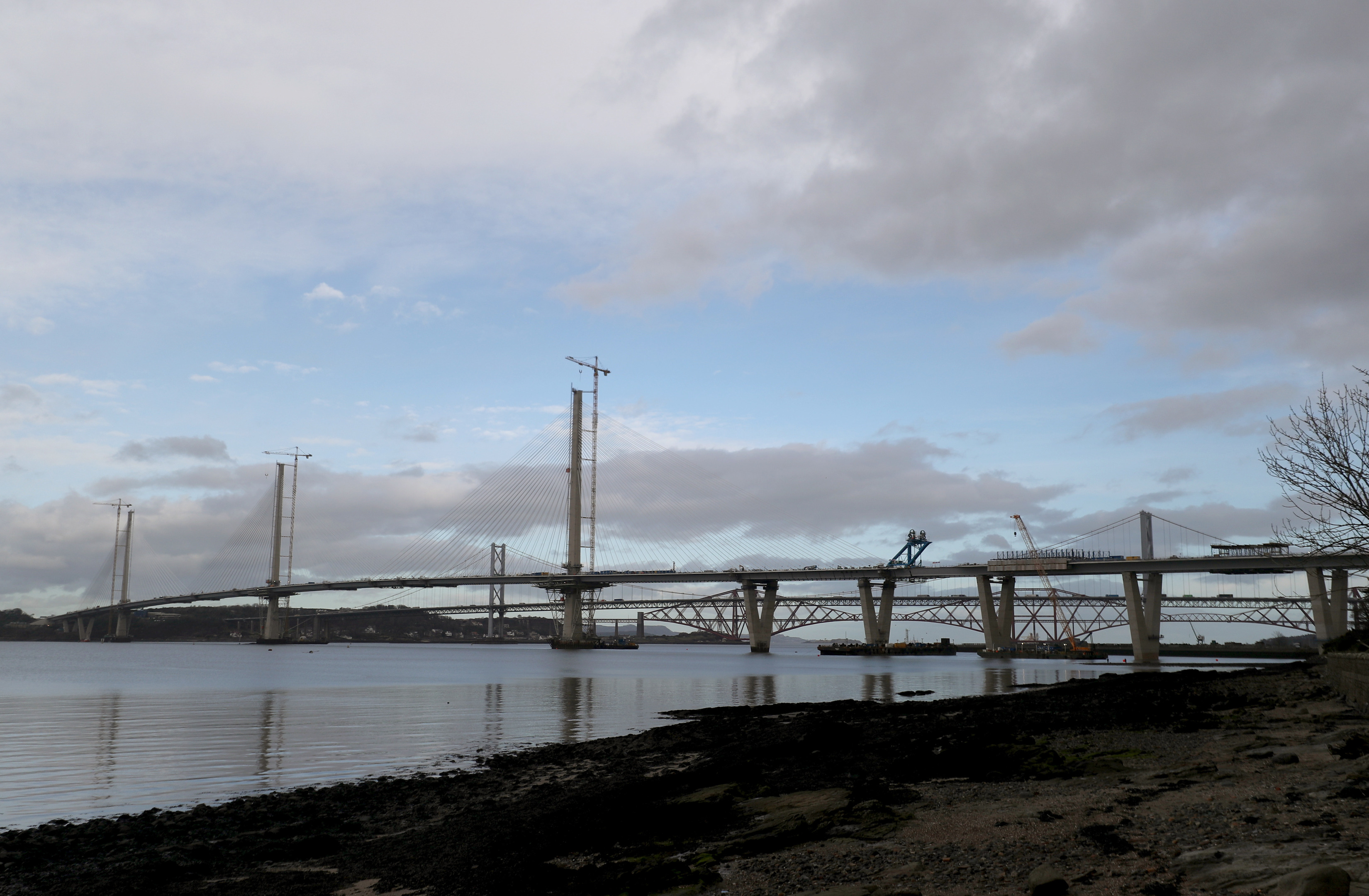 The new Queensferry Crossing (Steve Parsons / PA Wire)