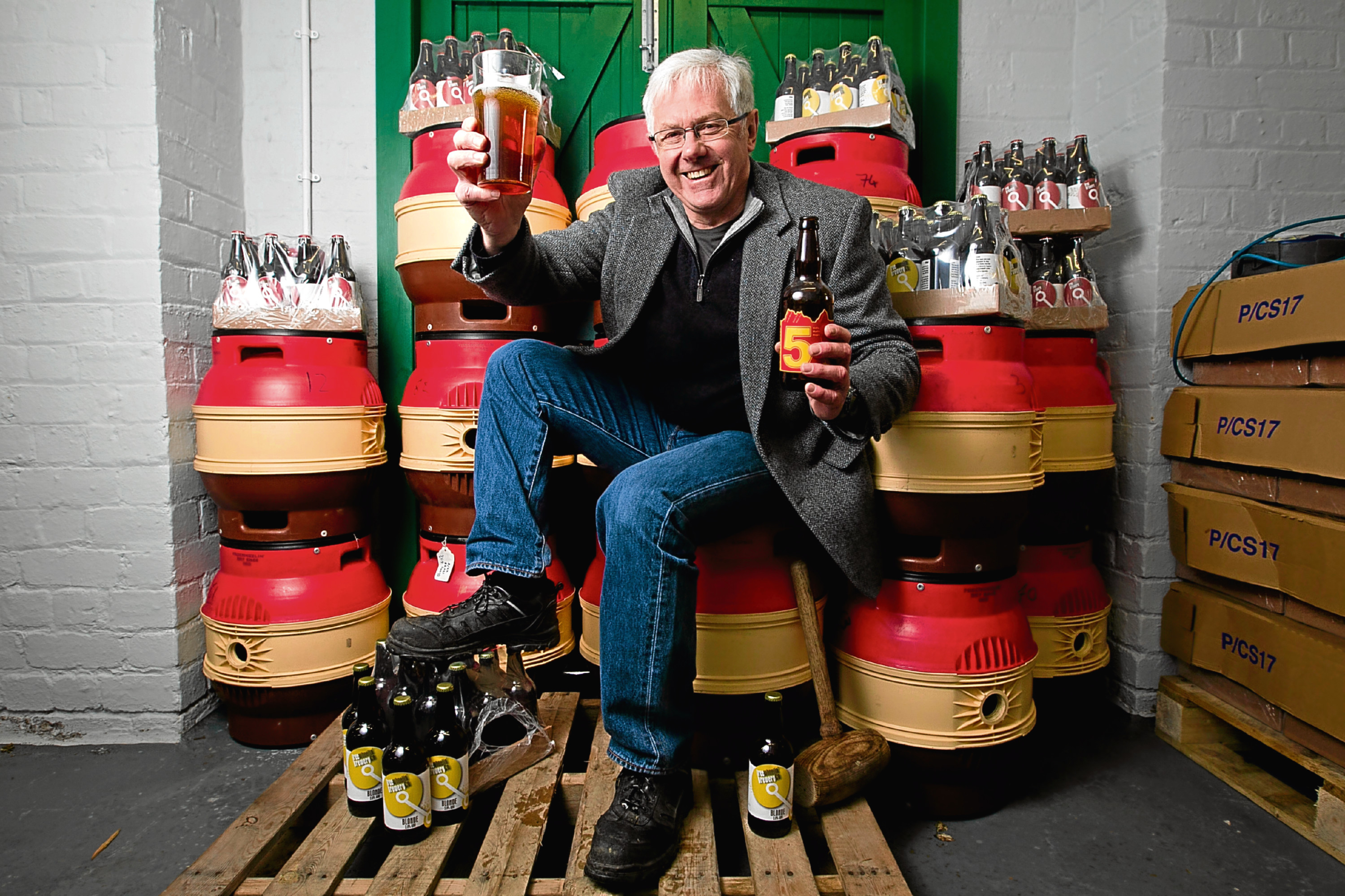 Richard White, who quit his normal office job to start his own beer brewery - The Freewheelin' Brewery Co. (Andrew Cawley)