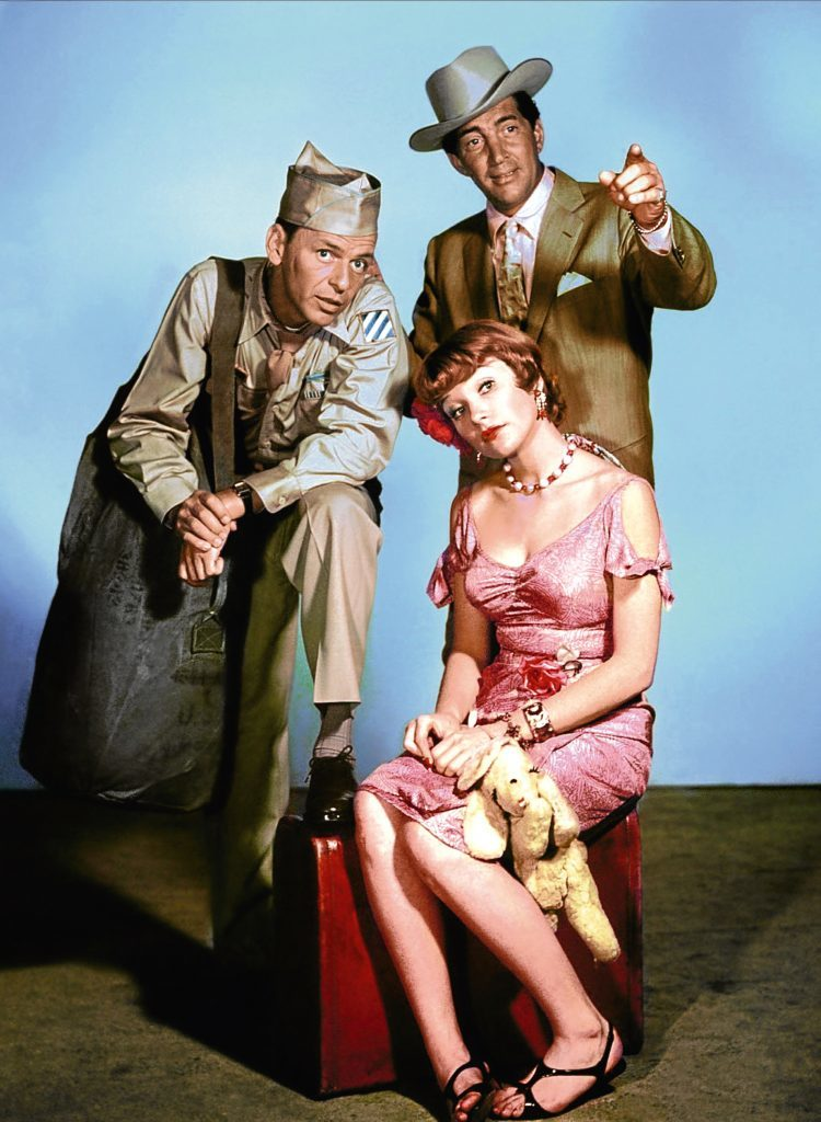 Shirley with Frank Sinatra and Dean Martin, Some Came Running, 1958 (Allstar/MGM)