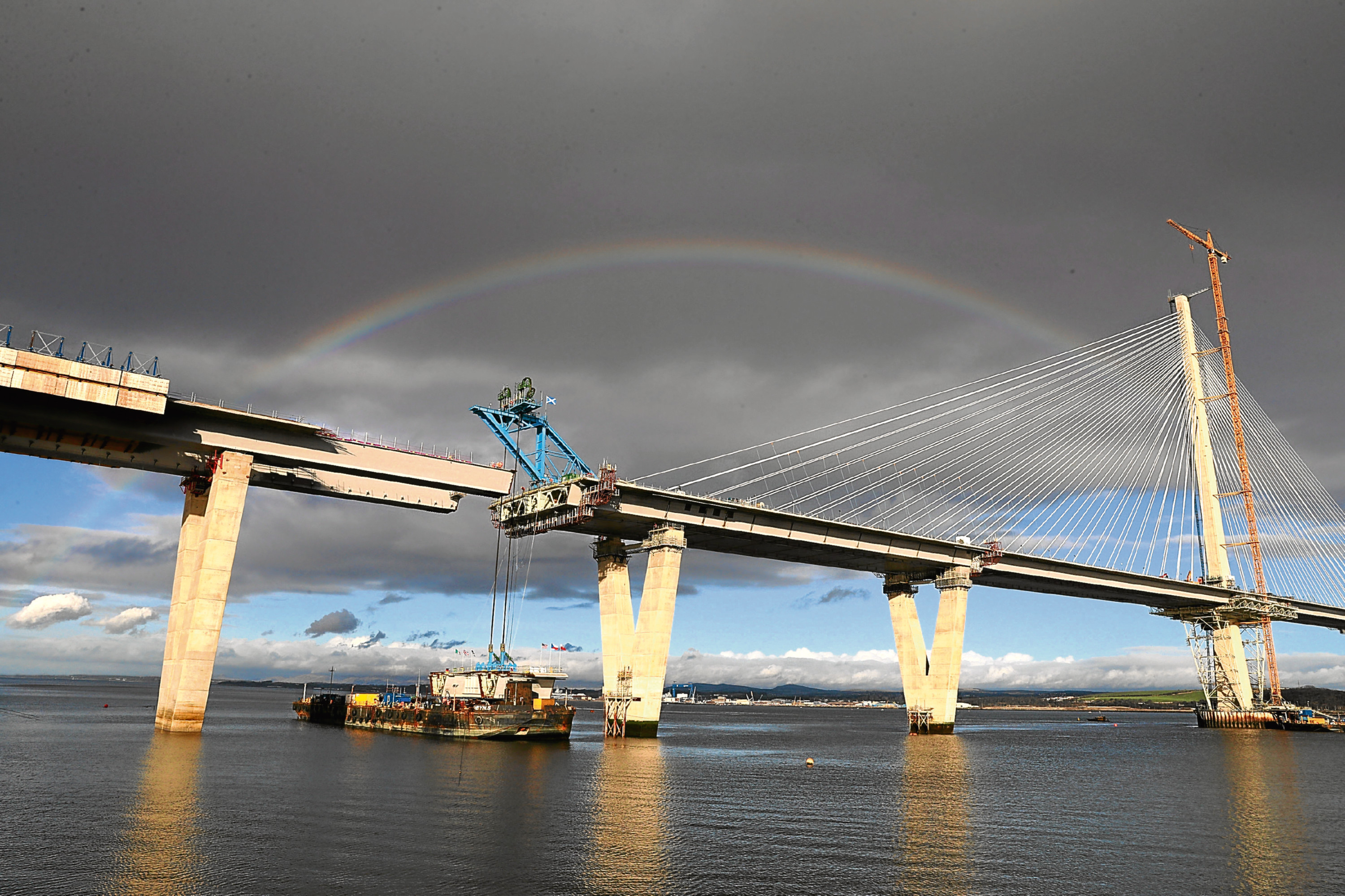 Queensferry Crossing nears completion (PA)
