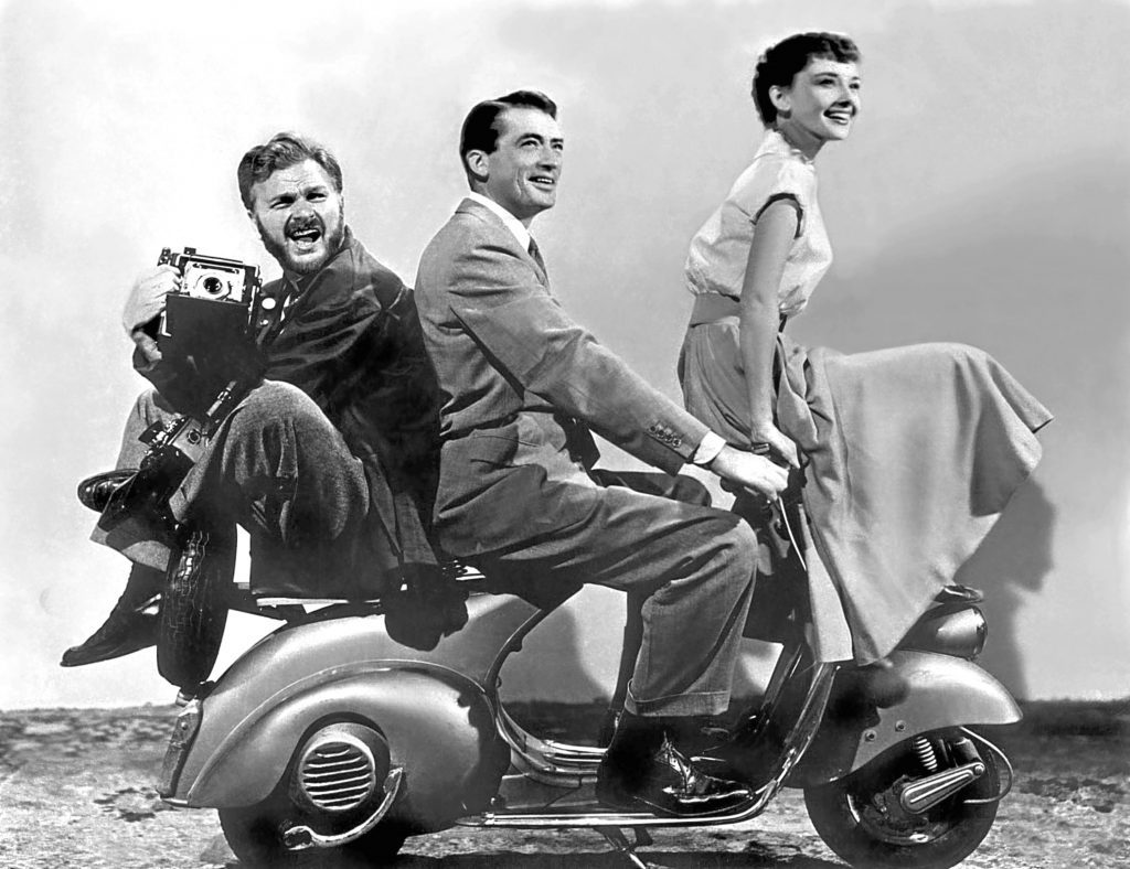 Gregory with Audrey Hepburn and Eddie Albert in Roman Holiday, 1953 (Allstar/PARAMOUNT)