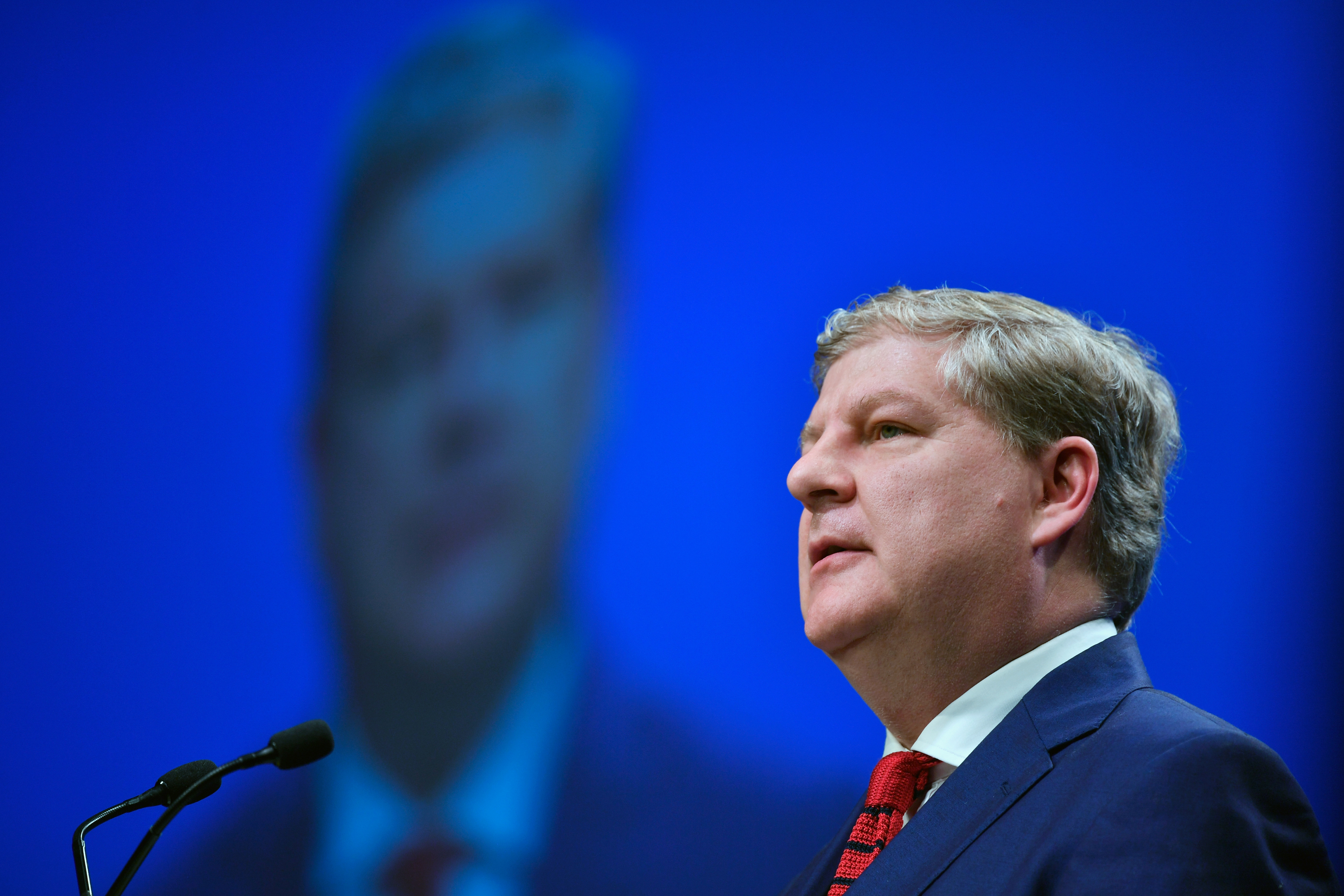 Angus Robertson, deputy SNP leader, addresses delegates at the spring SNP conference (Jeff J Mitchell/Getty Images)