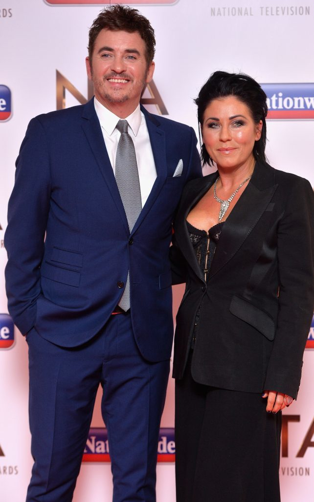 Shane with Eastenders co-star Jessie Wallace (Anthony Harvey/Getty Images)